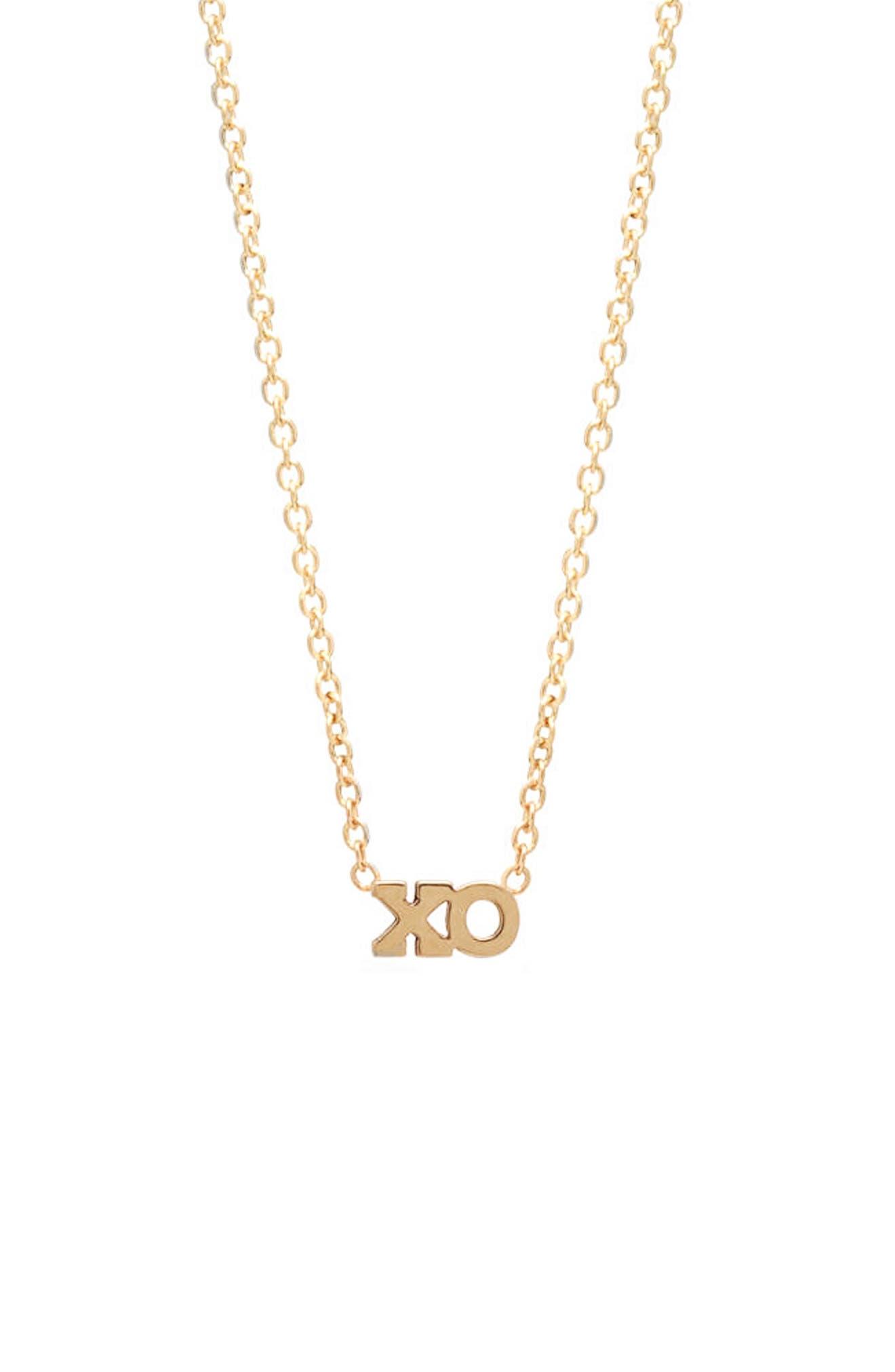 Main Image - Zoë Chicco XO Pendant Necklace