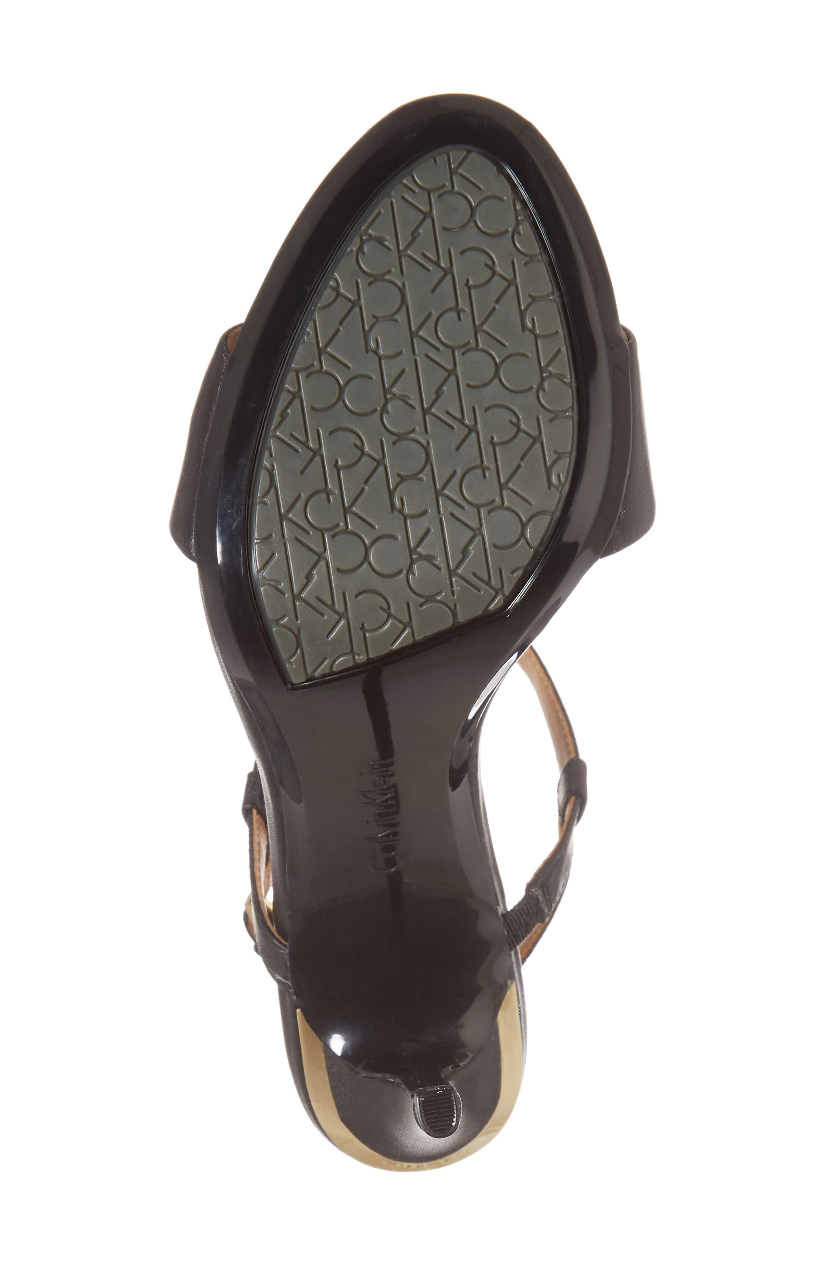 Nori Sandal,                             Alternate thumbnail 6, color,                             Black Leather