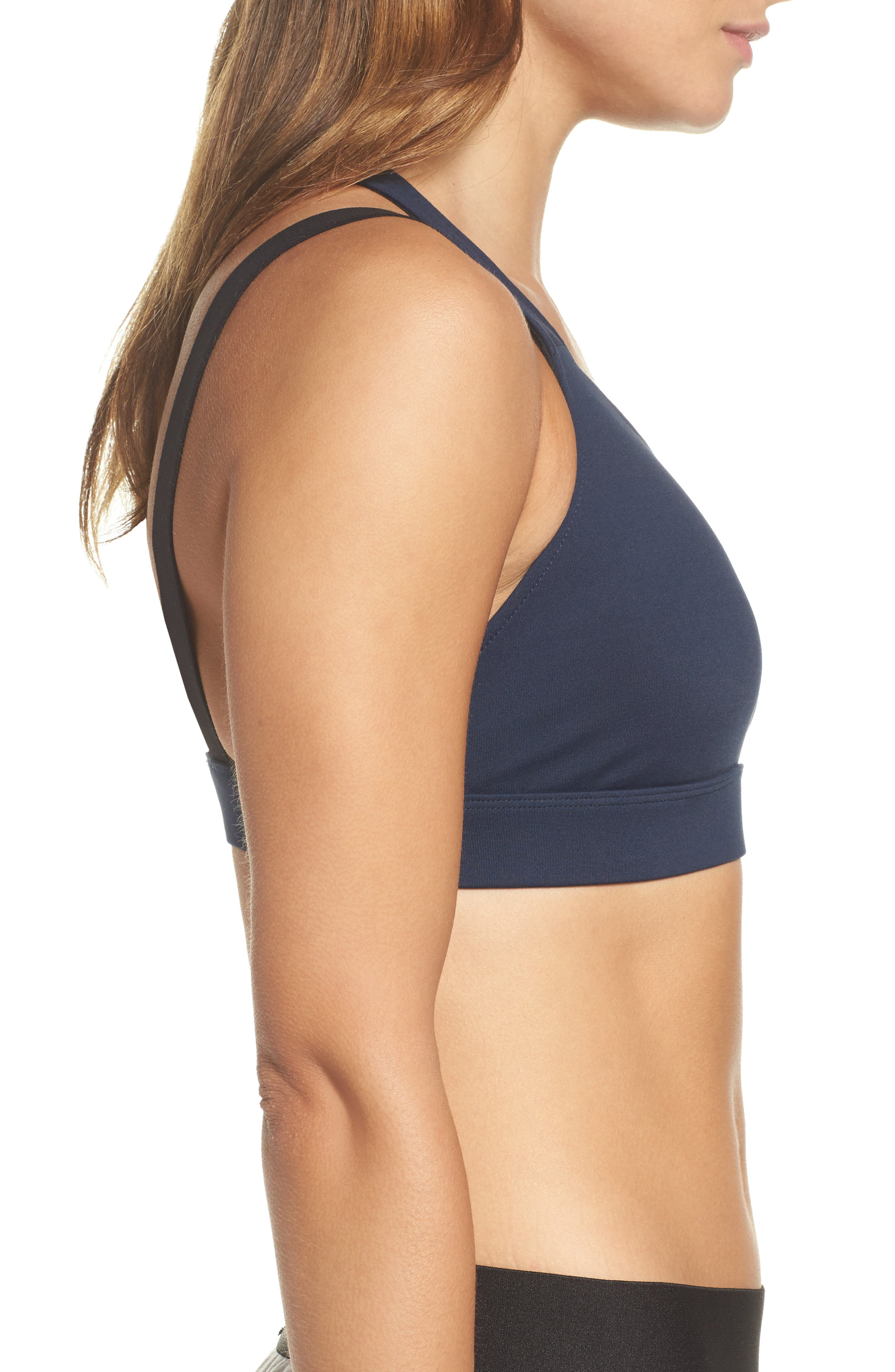 Forte Sports Bra,                             Alternate thumbnail 3, color,                             Midnight Blue/ Black