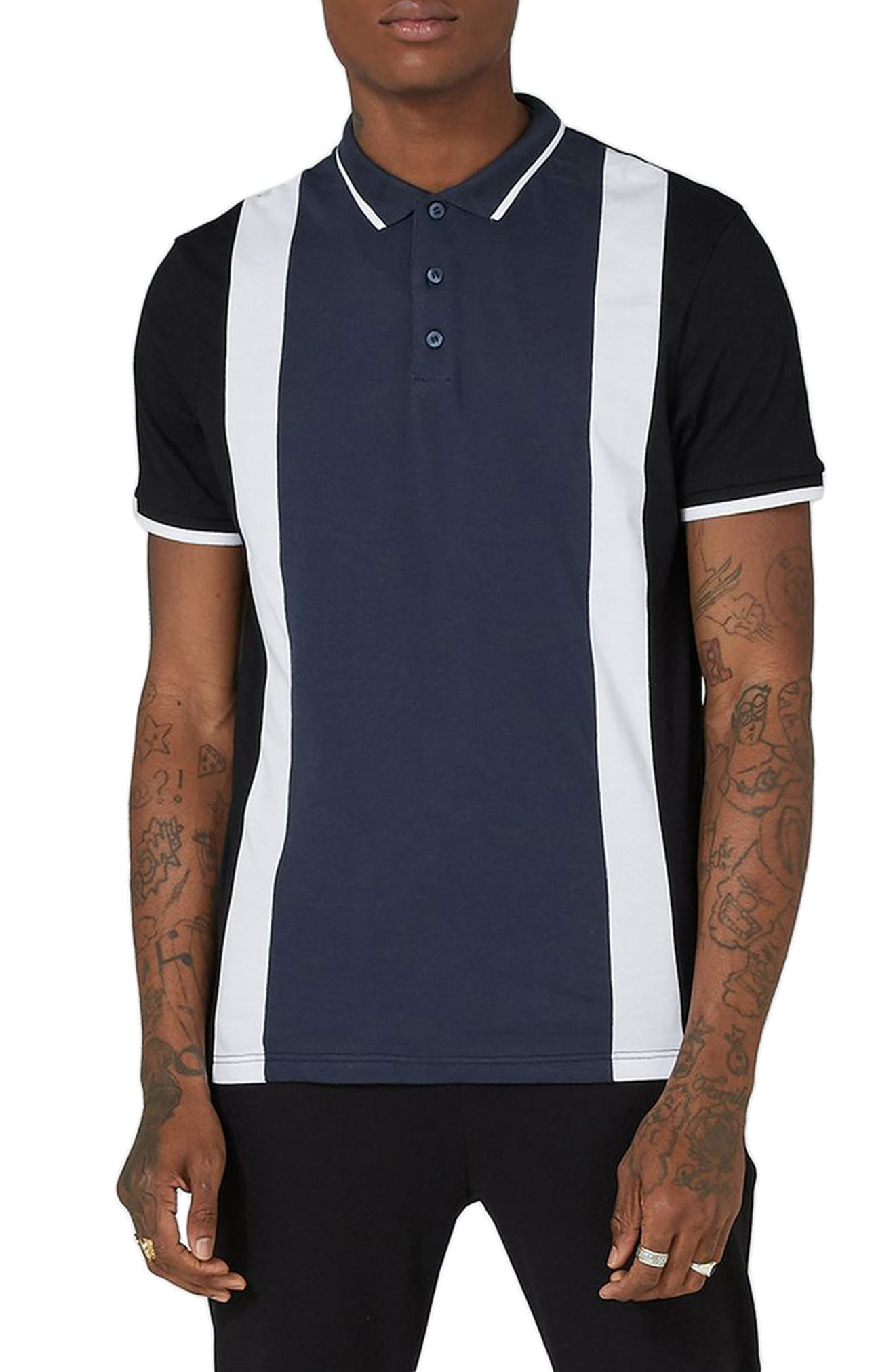 Alternate Image 1 Selected - Topman Panel Cotton Polo