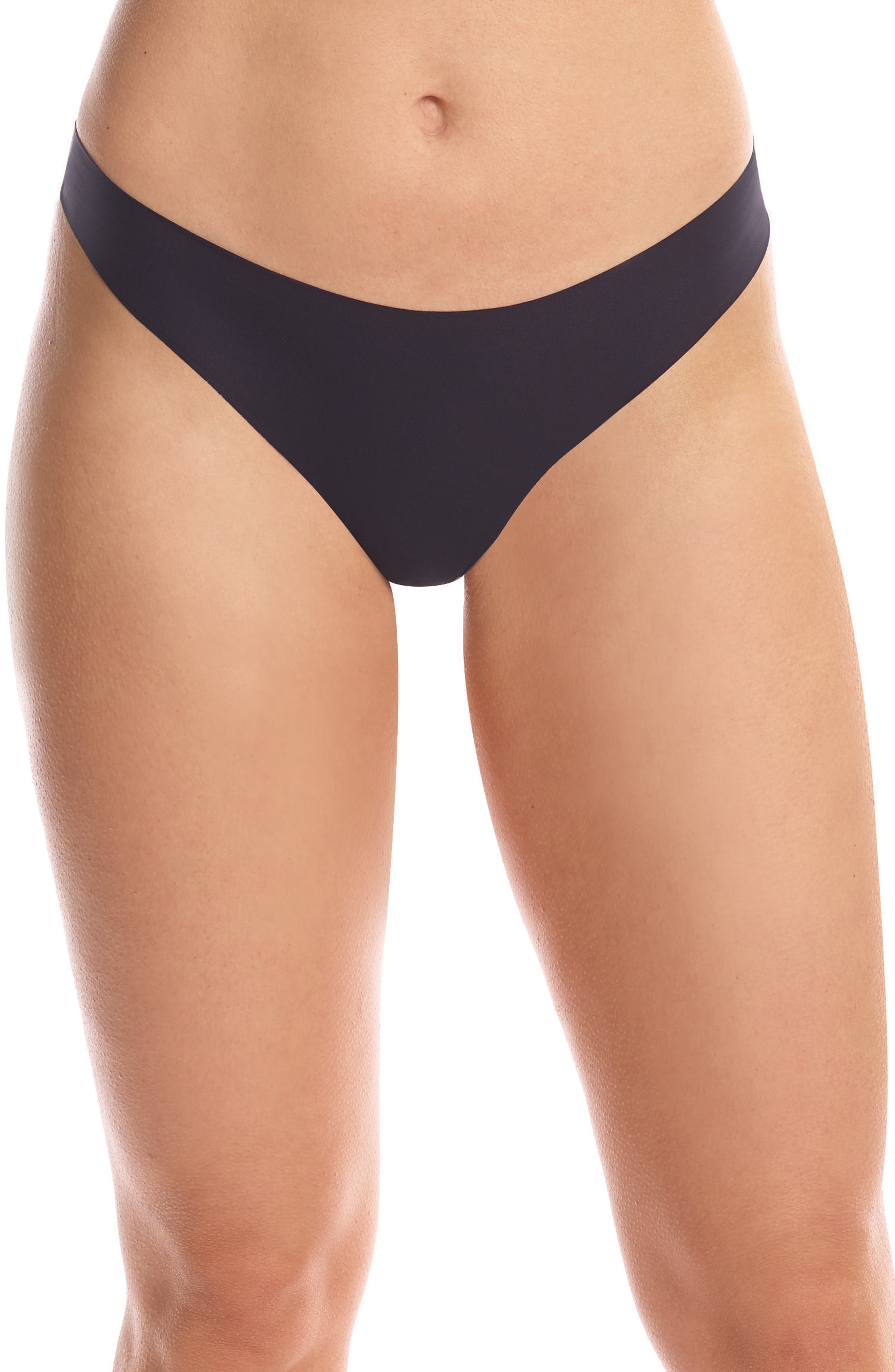 Perfect Stretch Thong,                         Main,                         color, Black
