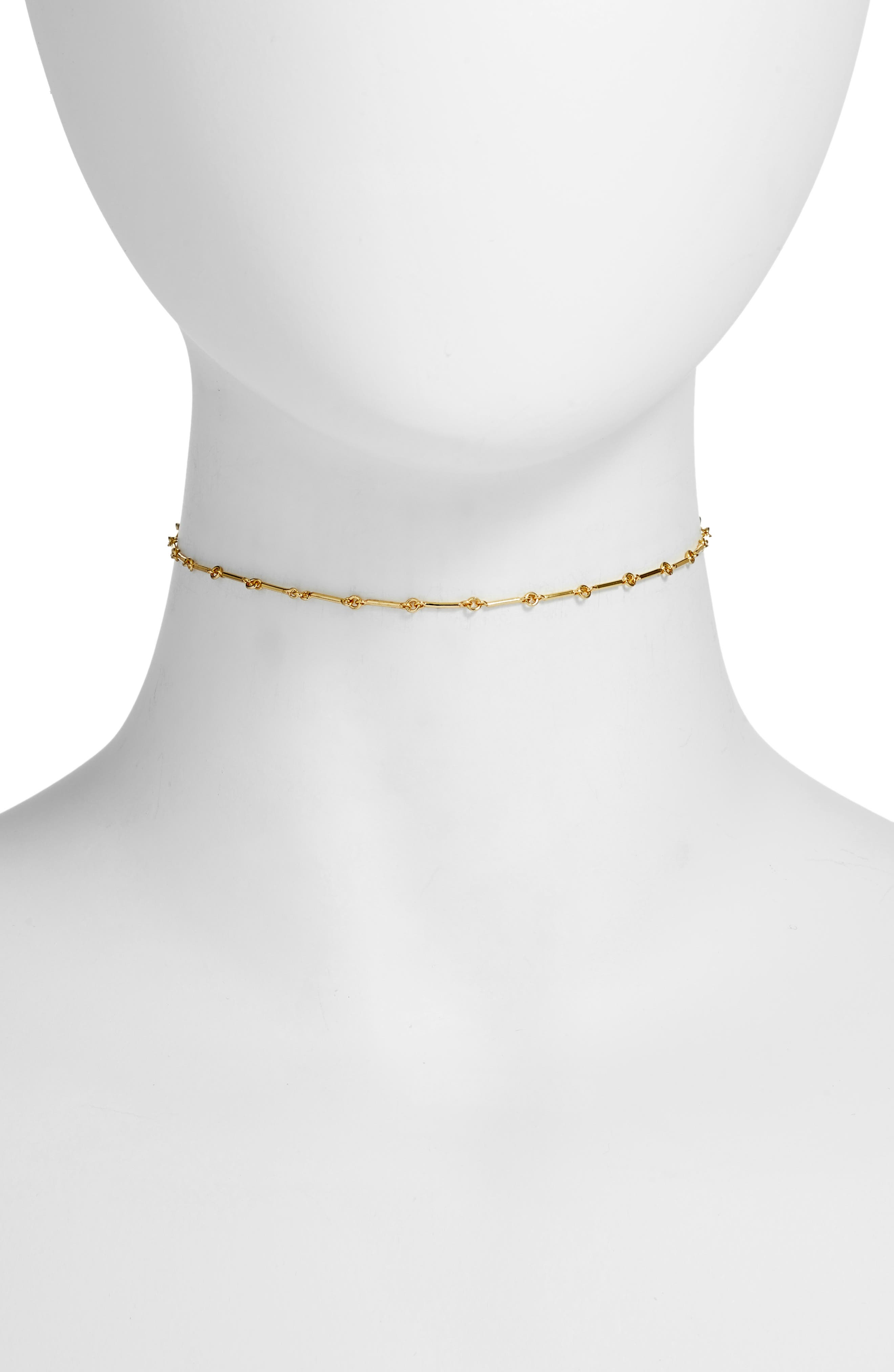 Maria Choker Necklace,                         Main,                         color, Gold