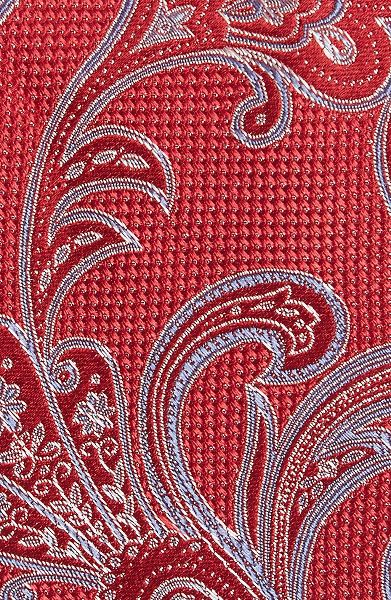 Bennett Paisley Silk Tie,                             Alternate thumbnail 2, color,                             Red