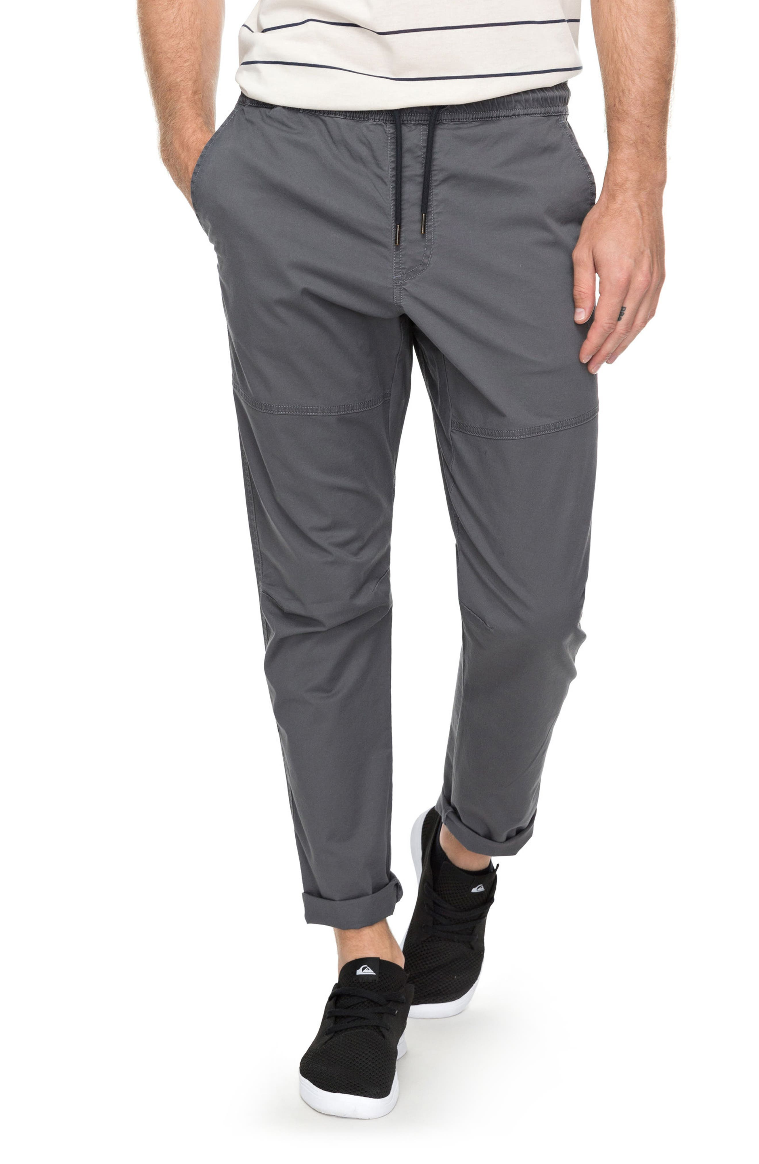 Foxoy Twill Pants,                         Main,                         color, Iron Gate