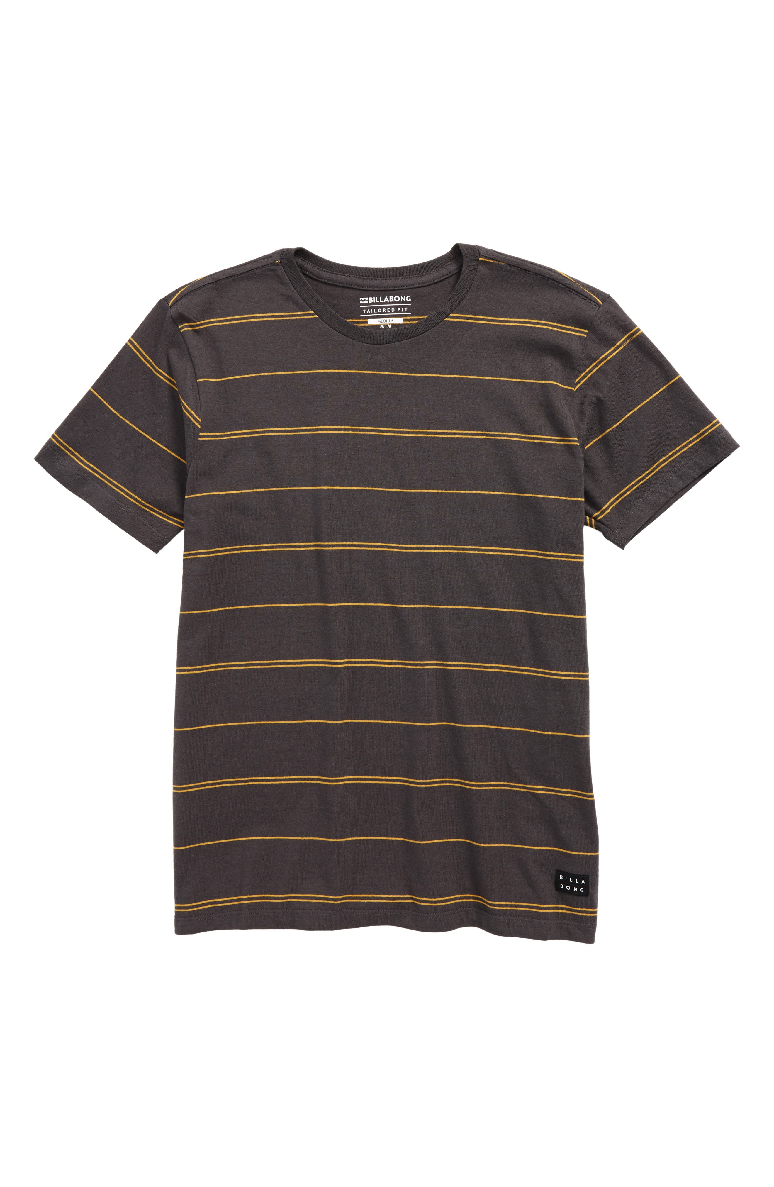 Die Cut Stripe Ringer T-Shirt,                         Main,                         color, Asphalt