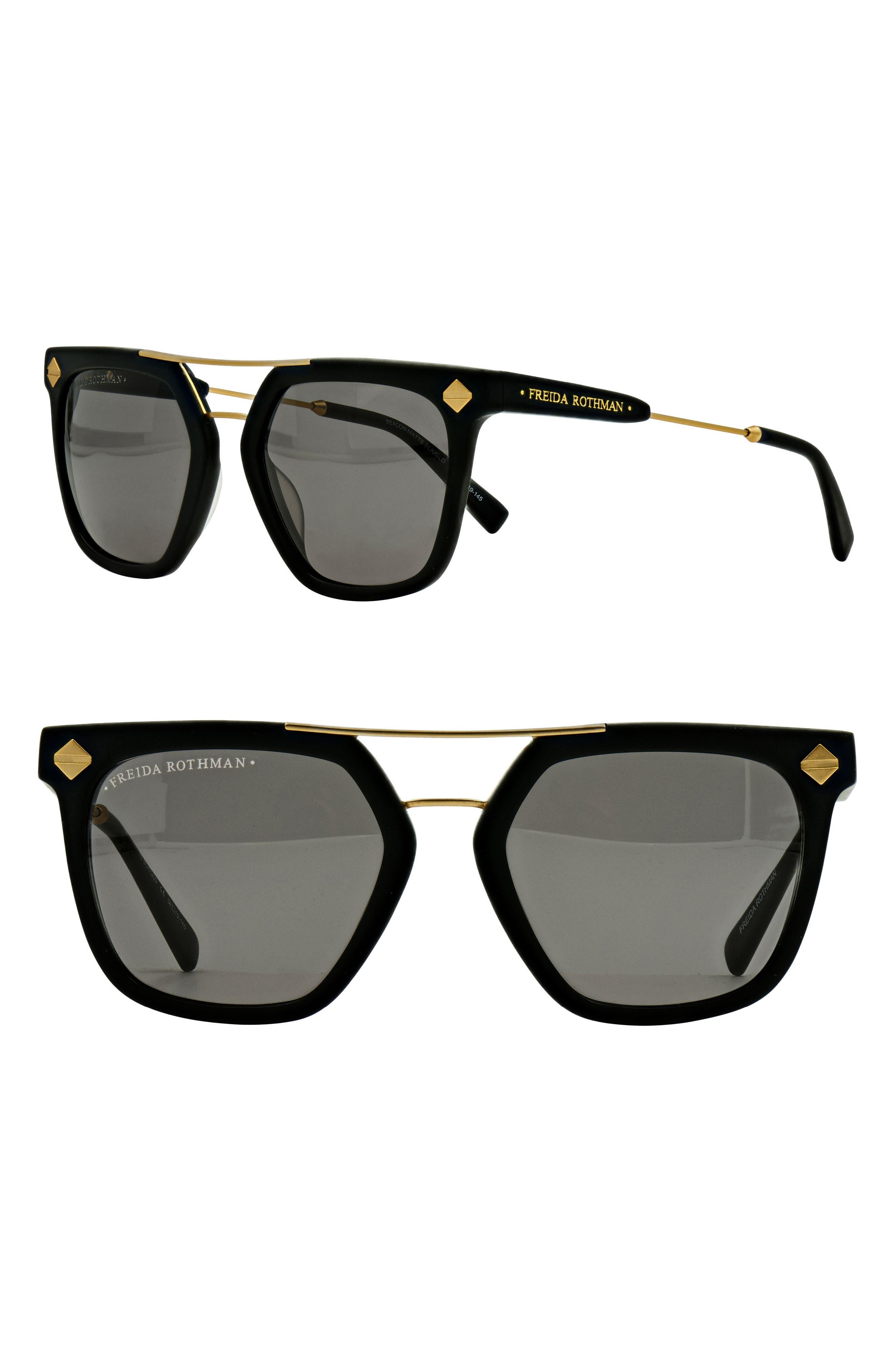 Beacon 52mm Aviator Sunglasses,                             Main thumbnail 1, color,                             Black