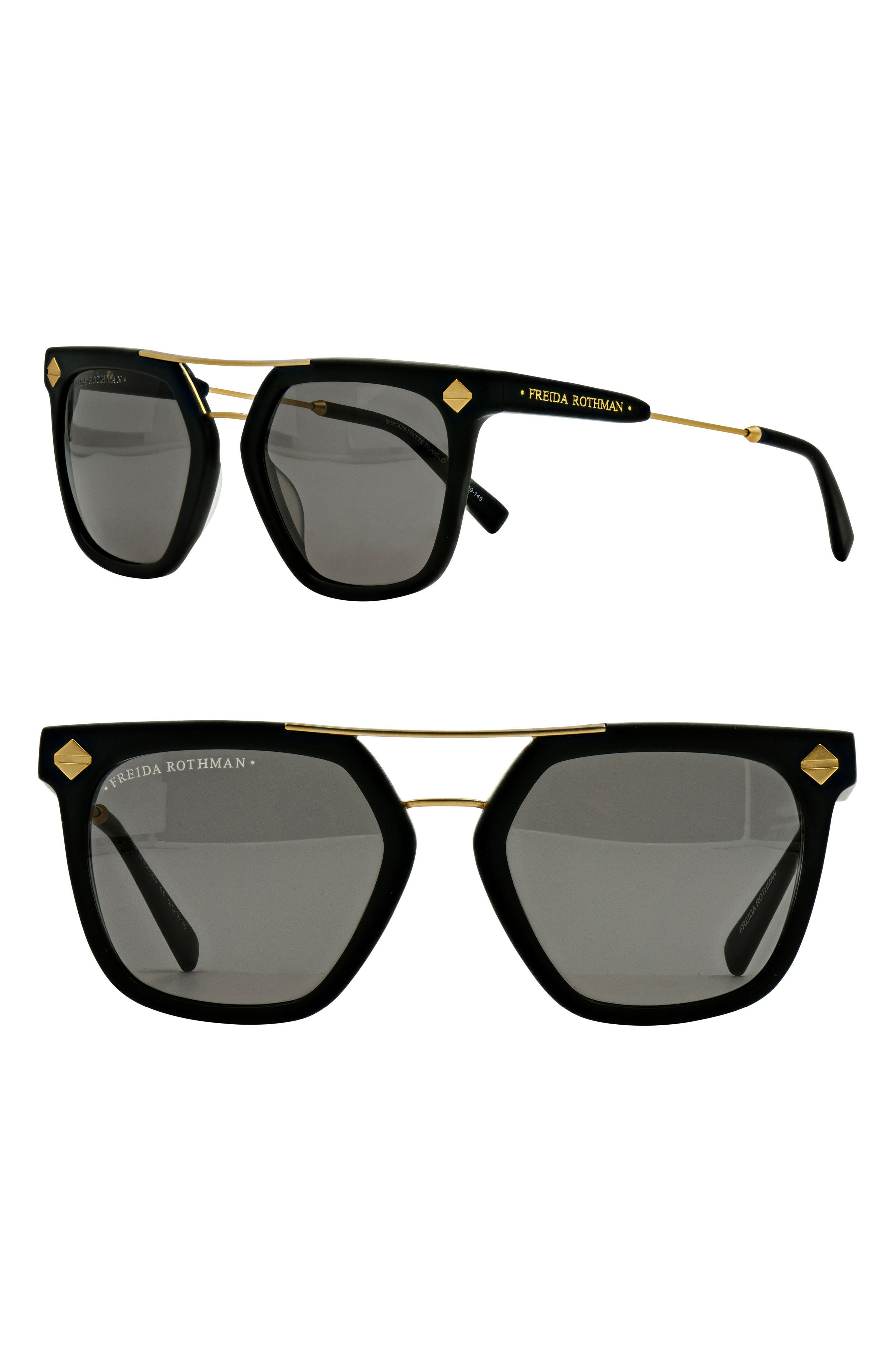 FREIDA ROTHMAN Beacon 52mm Aviator Sunglasses
