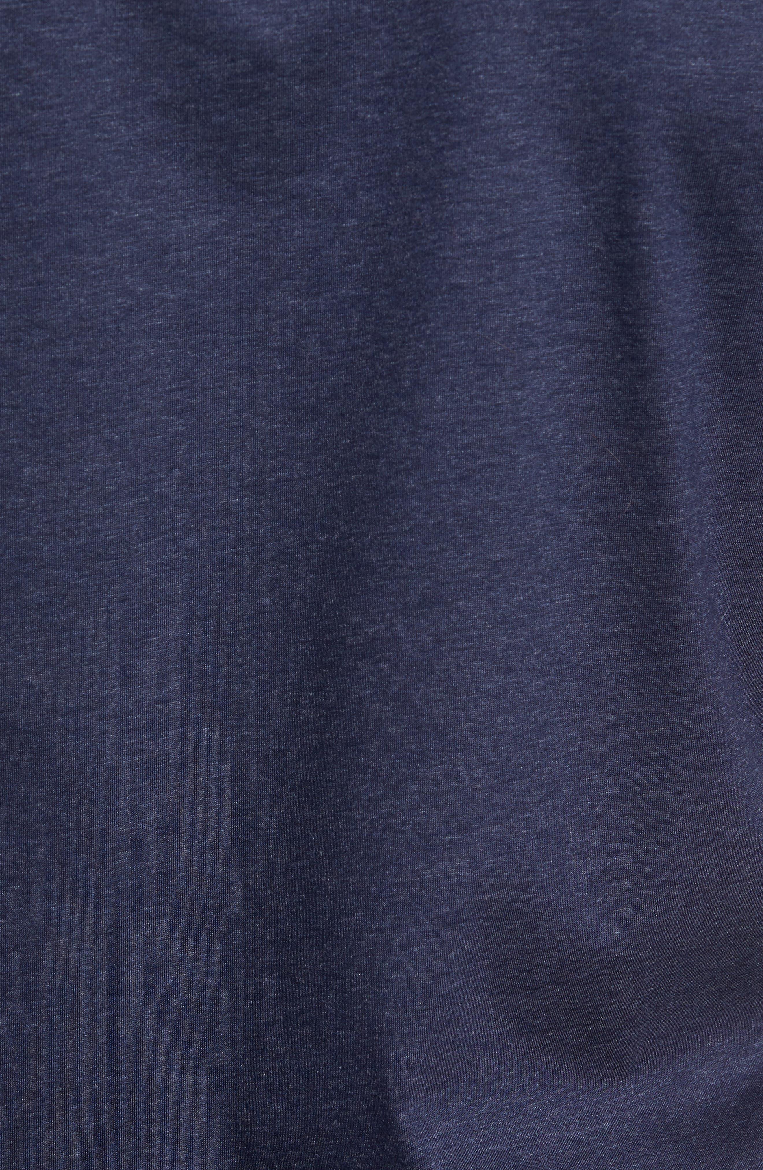 Teal Slim Fit V-Neck T-Shirt,                             Alternate thumbnail 5, color,                             Blue