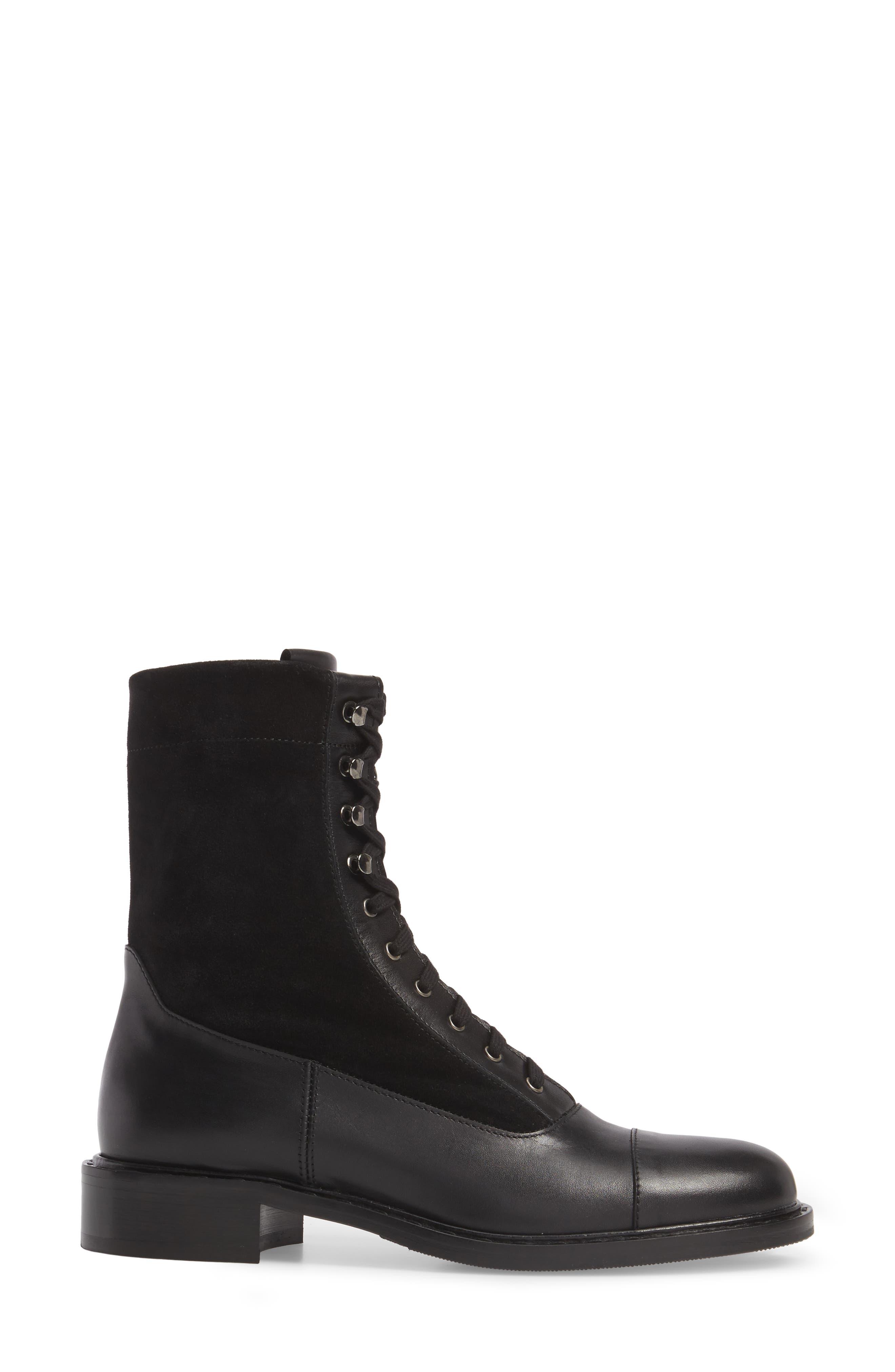 Brigitta Weatherproof Boot,                             Alternate thumbnail 3, color,                             Black/ Black