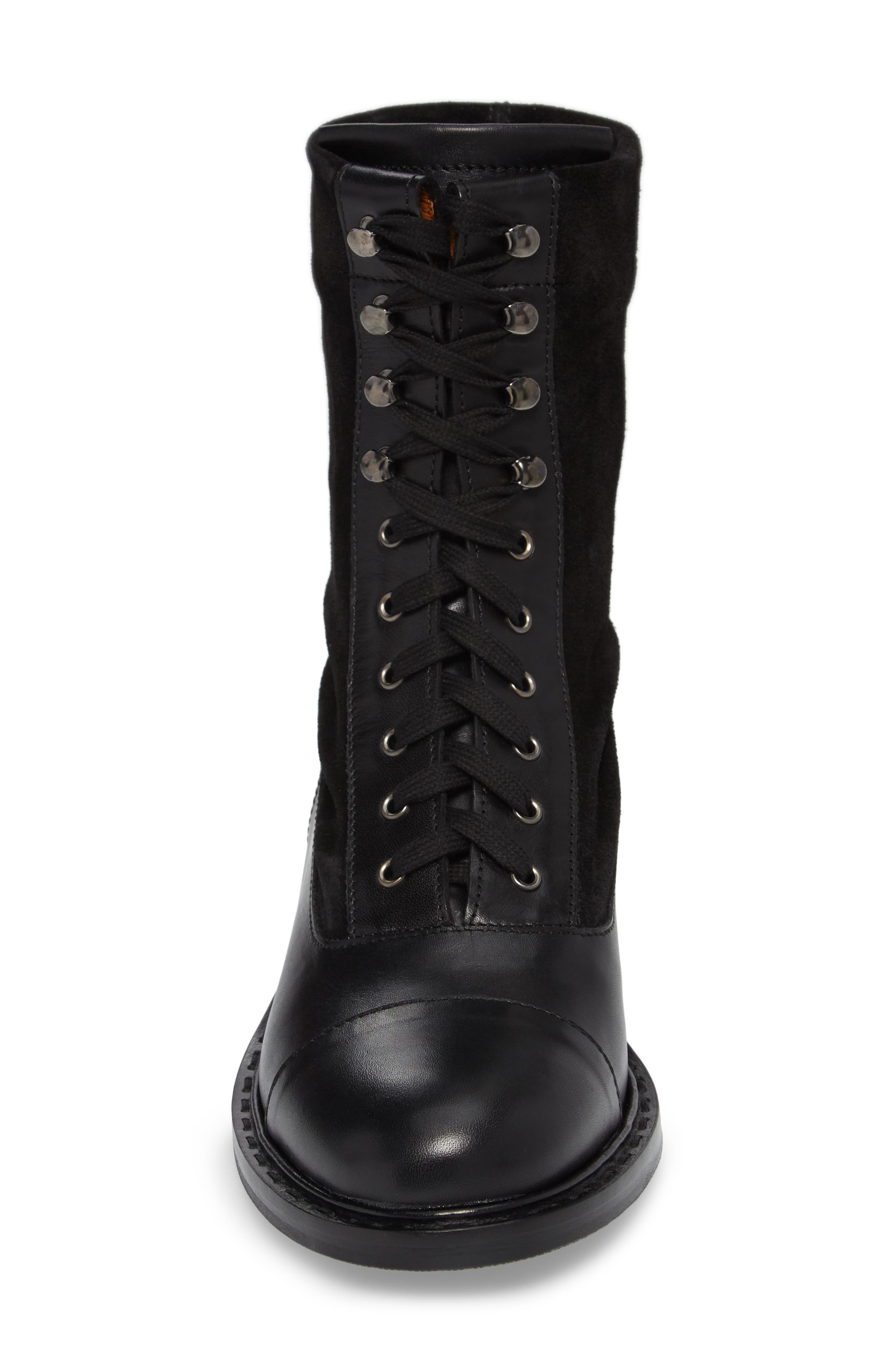 Brigitta Weatherproof Boot,                             Alternate thumbnail 4, color,                             Black/ Black