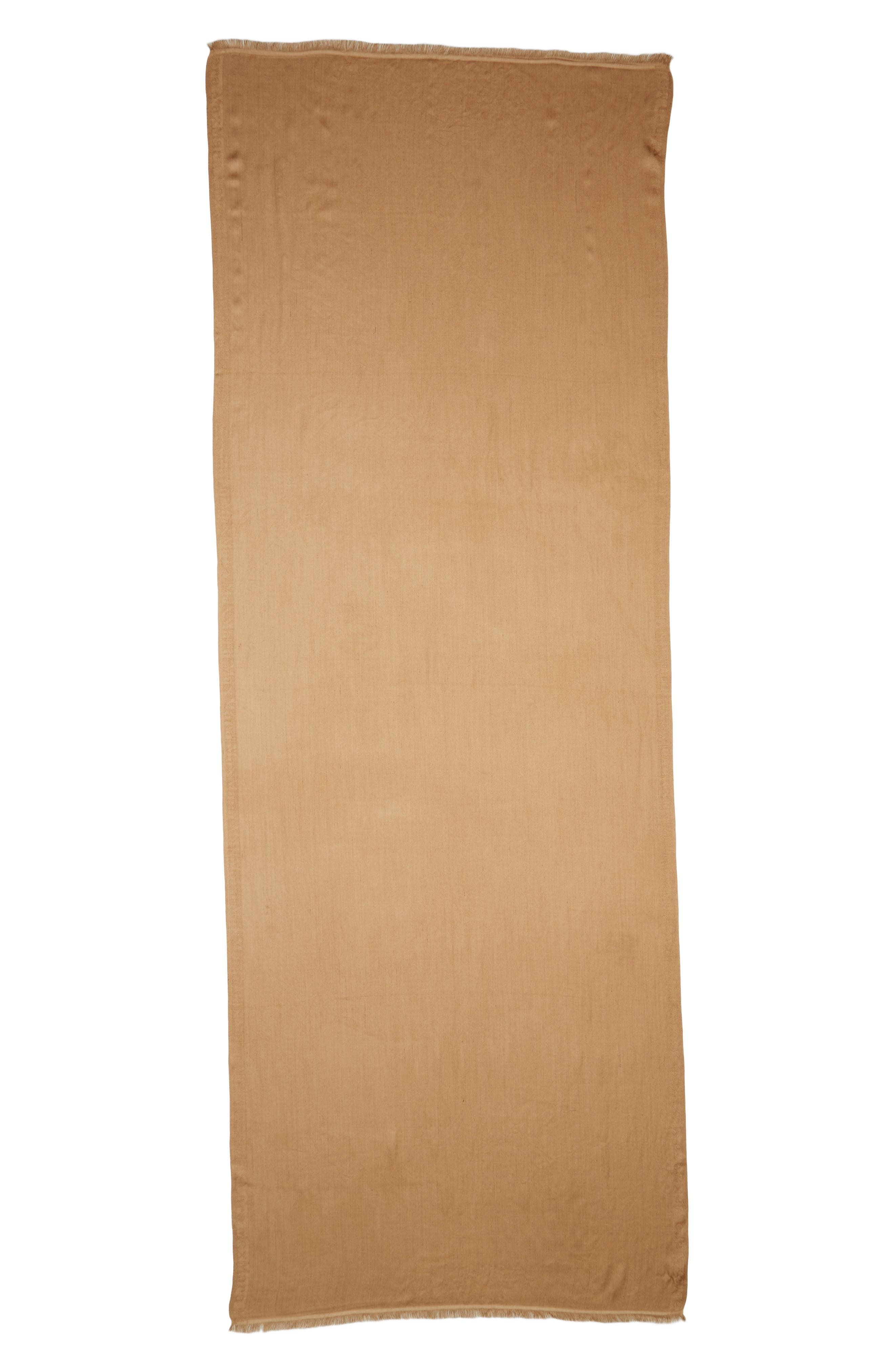Upupa Silk Scarf,                         Main,                         color, Camel