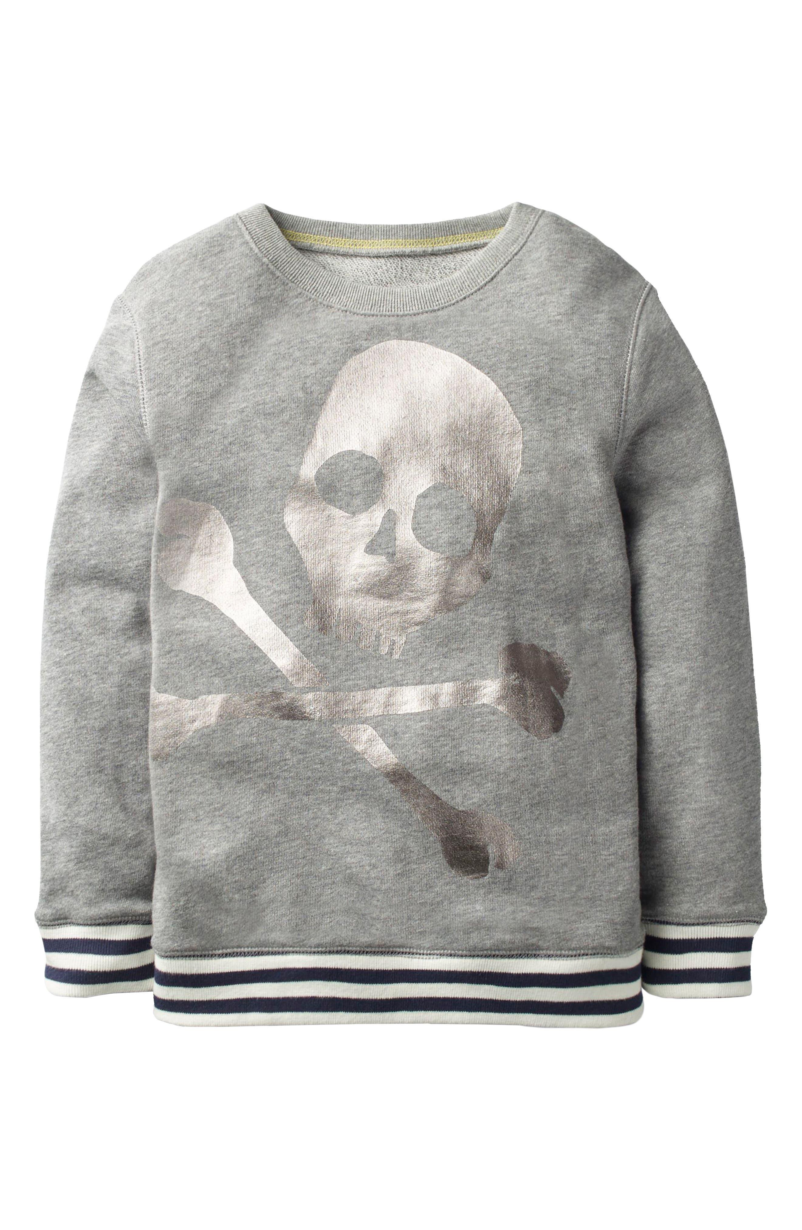 Mini Boden Fun Skull Sweatshirt (Toddler Boys, Little Boys & Big Boys)