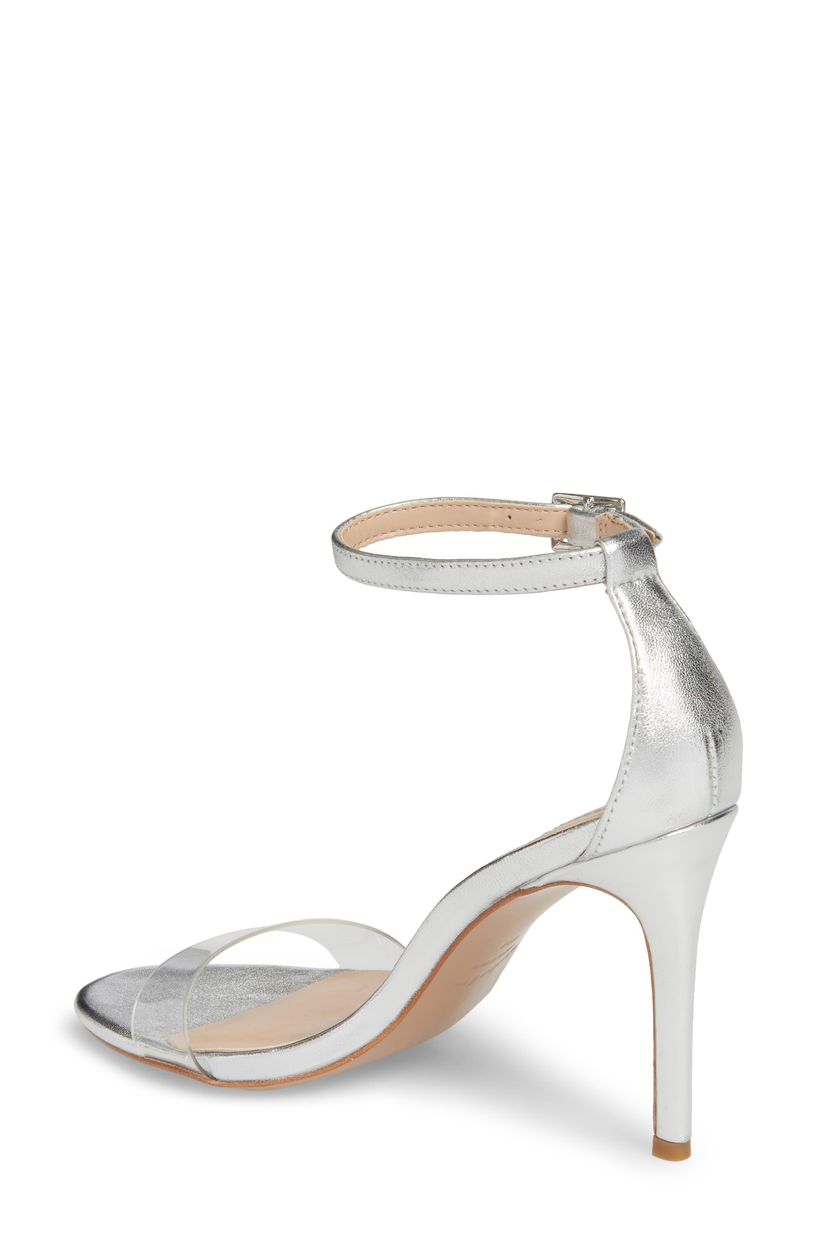 Cristal Sandal,                             Alternate thumbnail 2, color,                             Silver Metallic Leather