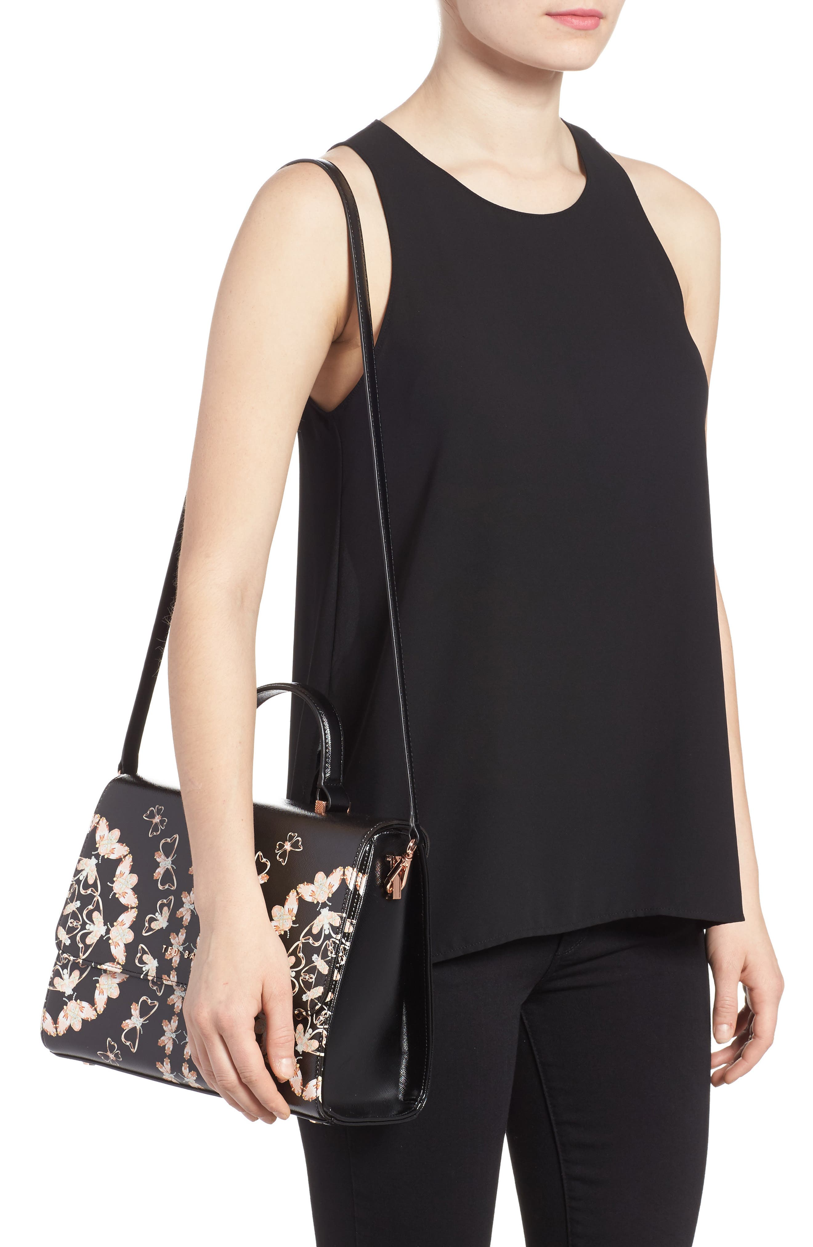 Alternate Image 2  - Ted Baker London Buzzy Queen Bee Faux Leather Satchel