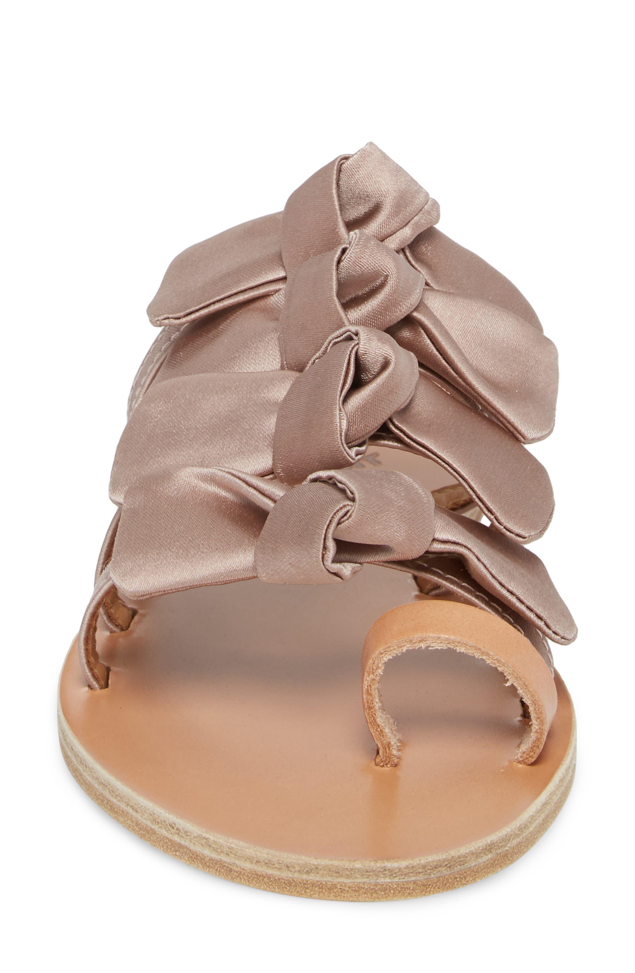 Hara Toe Loop Slide Sandal,                             Alternate thumbnail 4, color,                             Natural/ Lotus