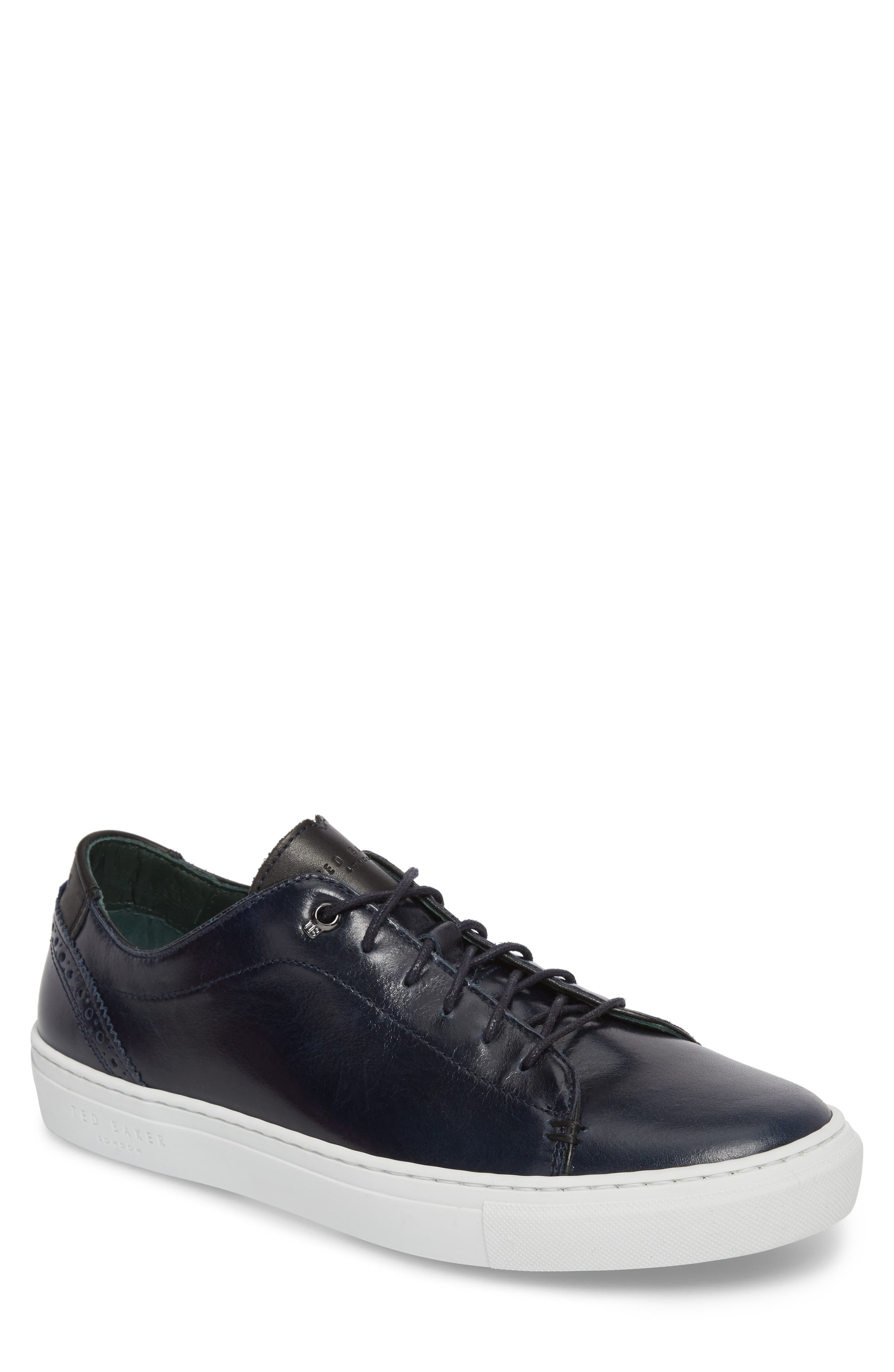Duuke 2 Sneaker,                             Main thumbnail 1, color,                             Midnight Blue Leather
