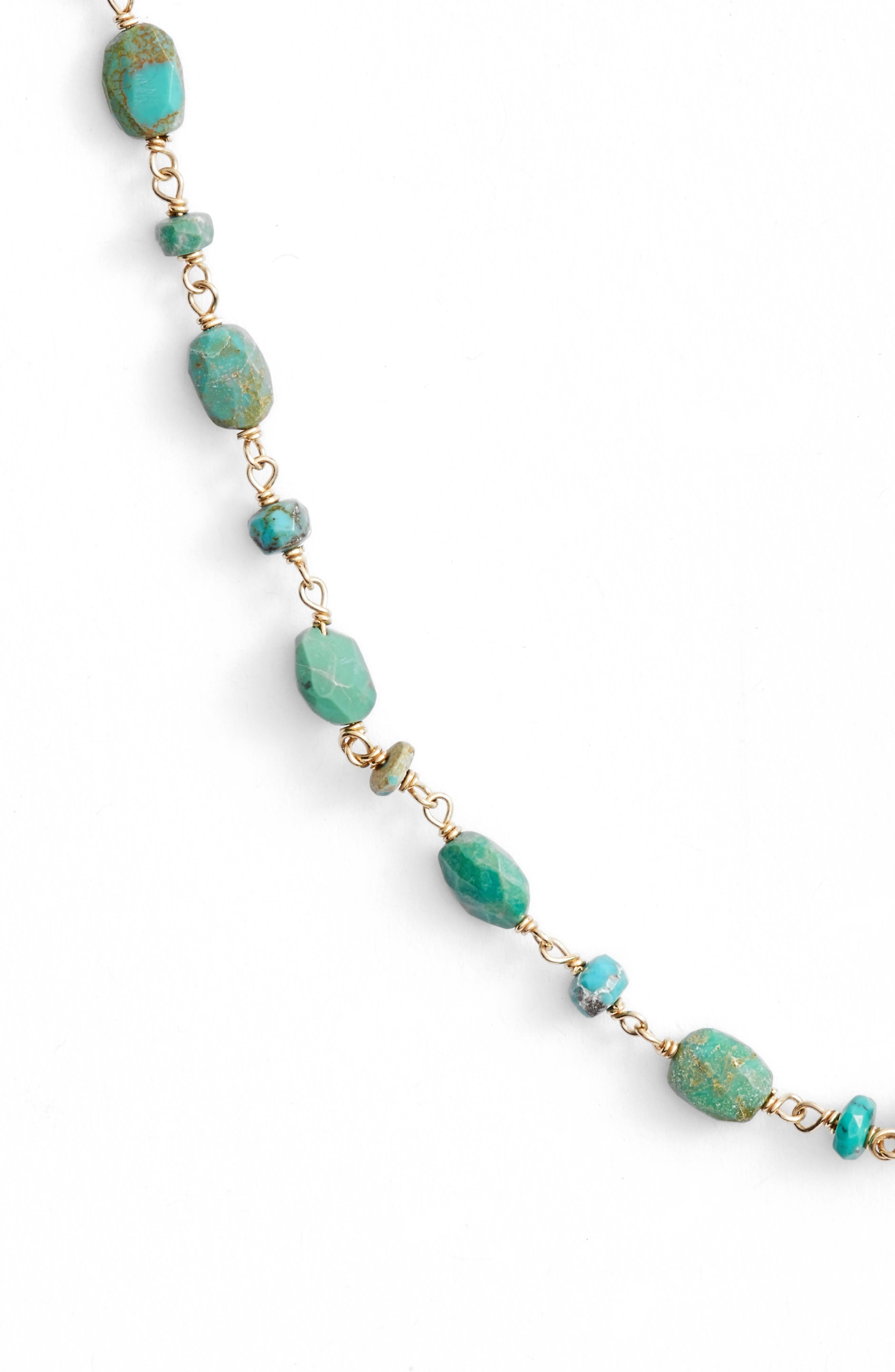 The Diana Oval Turquoise Necklace,                             Alternate thumbnail 2, color,                             Turquoise