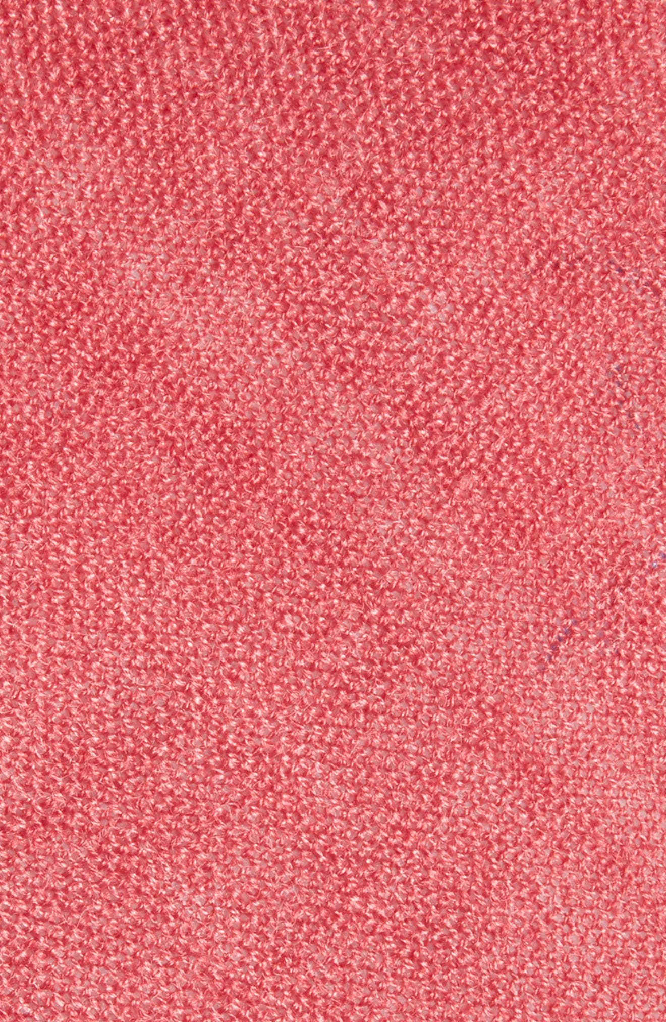 Bradford Solid Cotton Skinny Tie,                             Alternate thumbnail 2, color,                             Red