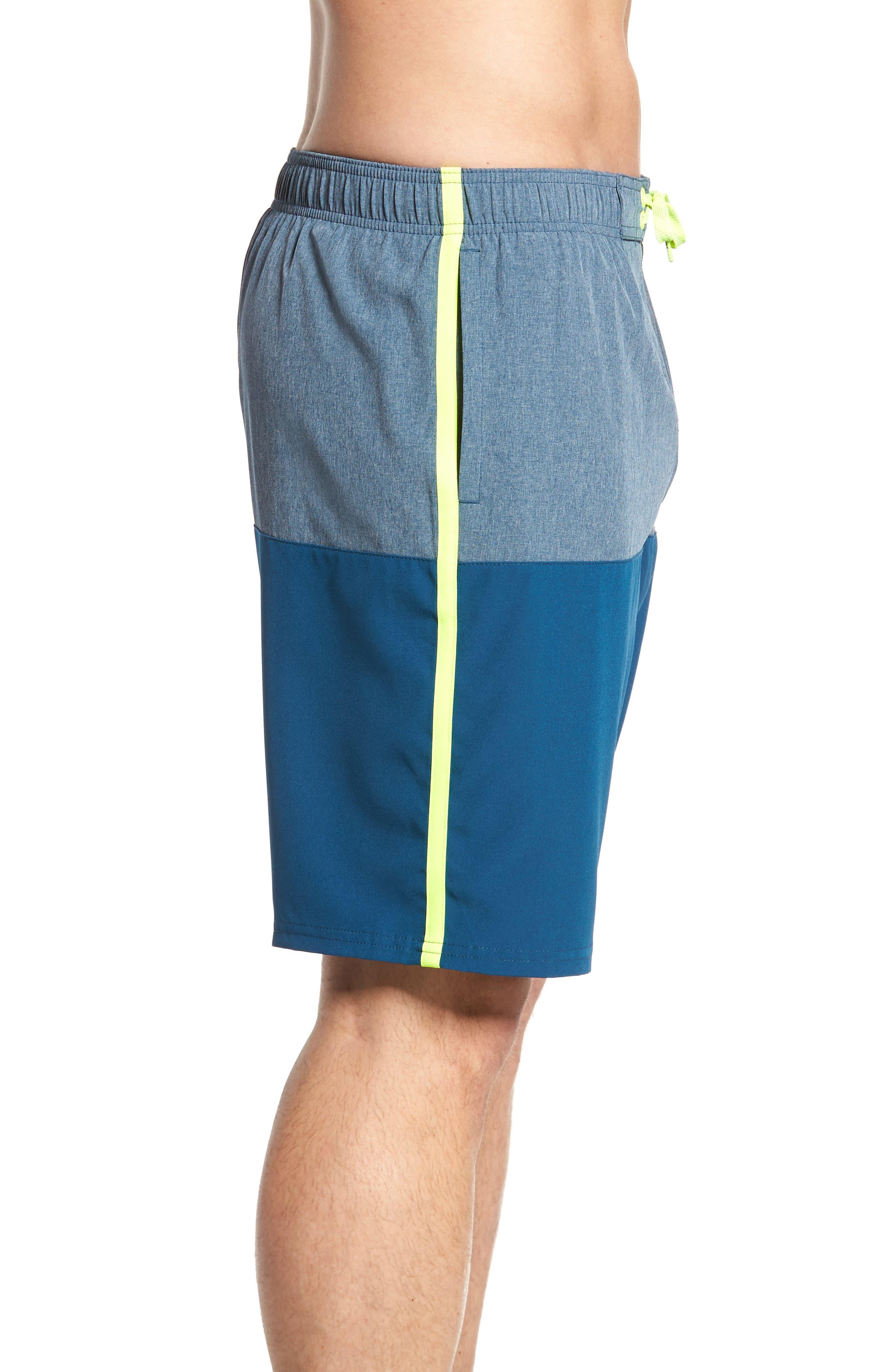 Split Board Shorts,                             Alternate thumbnail 3, color,                             Blue Force
