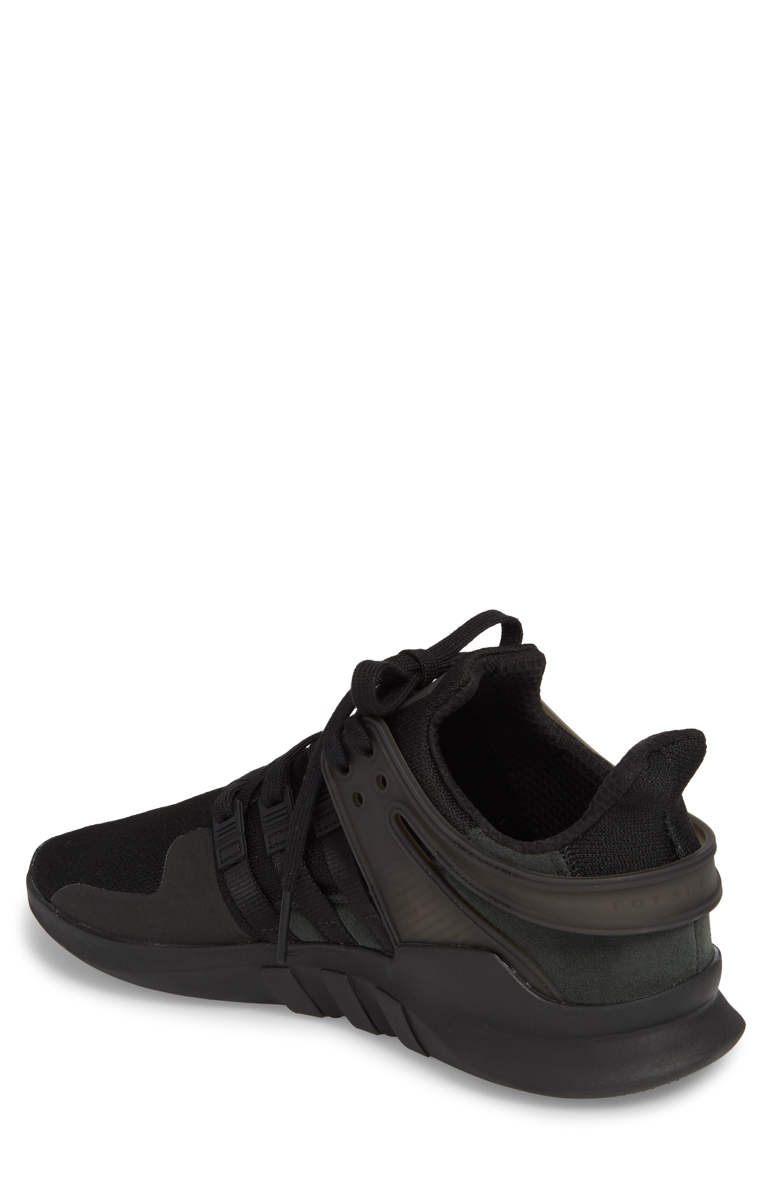 EQT Support Adv Sneaker,                             Alternate thumbnail 2, color,                             Core Black / Black / White