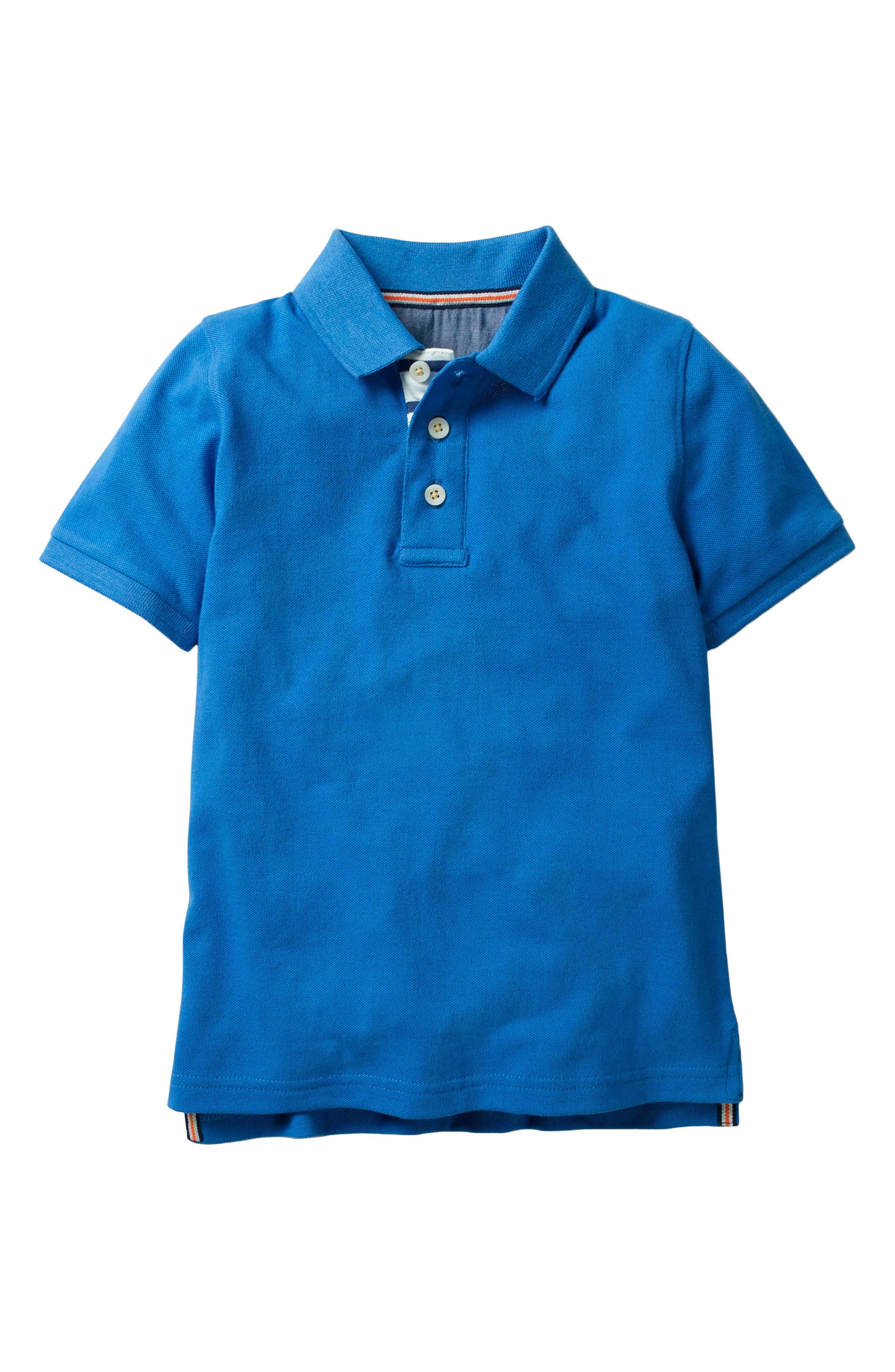 Piqué Polo,                             Main thumbnail 1, color,                             Skipper Blue