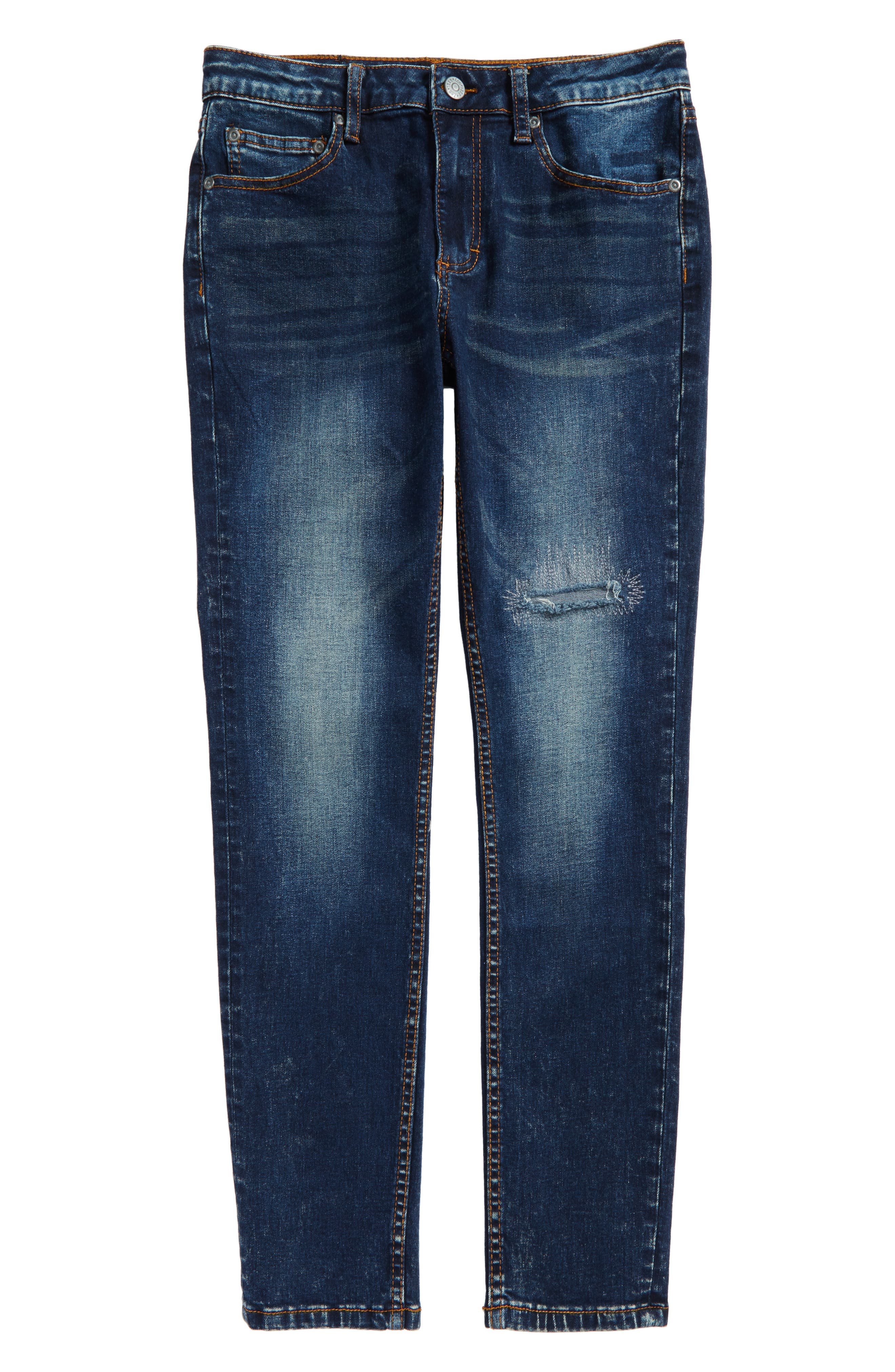 Stretch Skinny Jeans,                             Main thumbnail 1, color,                             Island Water