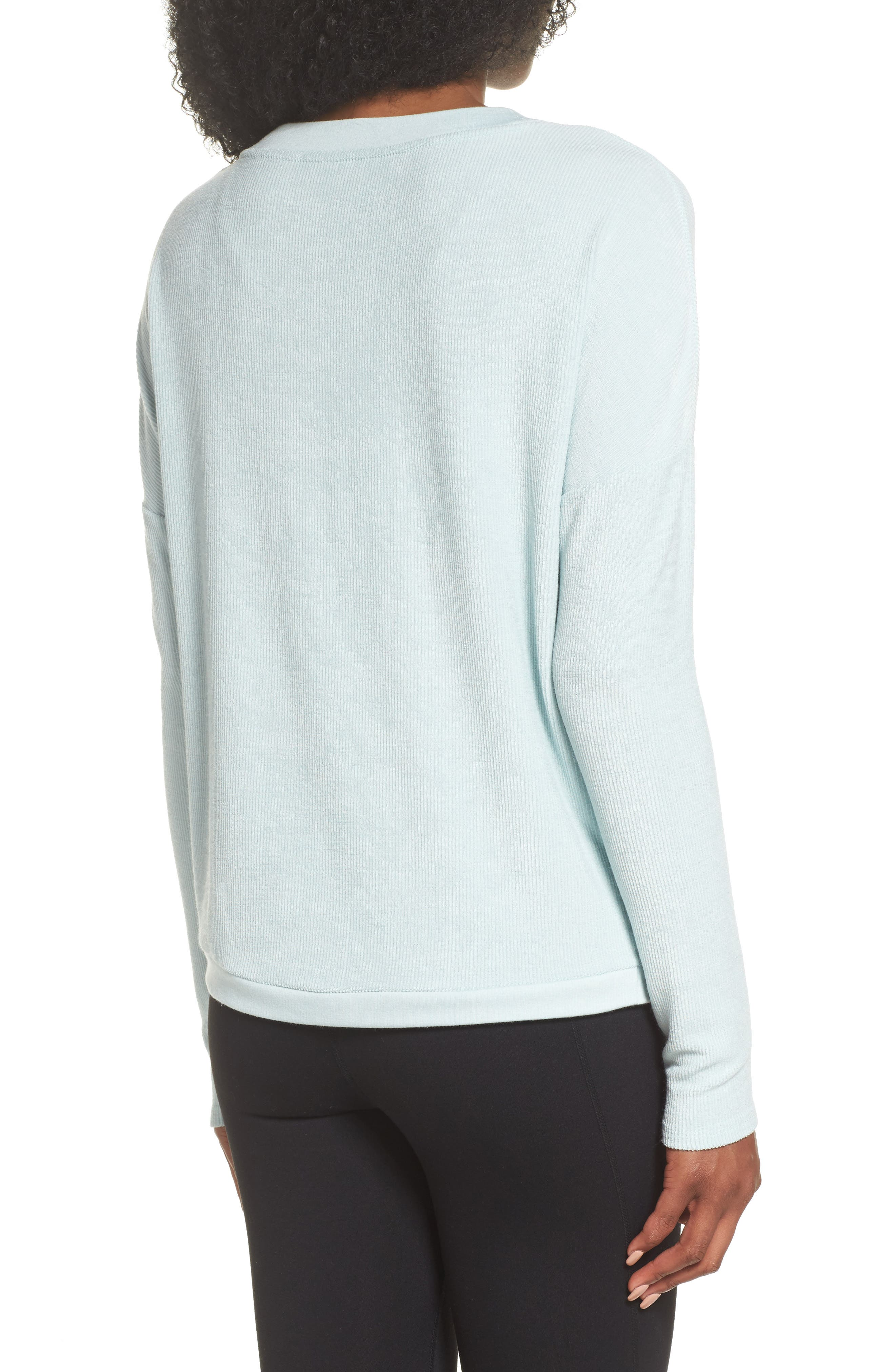 For the Love Faux Wrap Top,                             Alternate thumbnail 2, color,                             Teal Surf