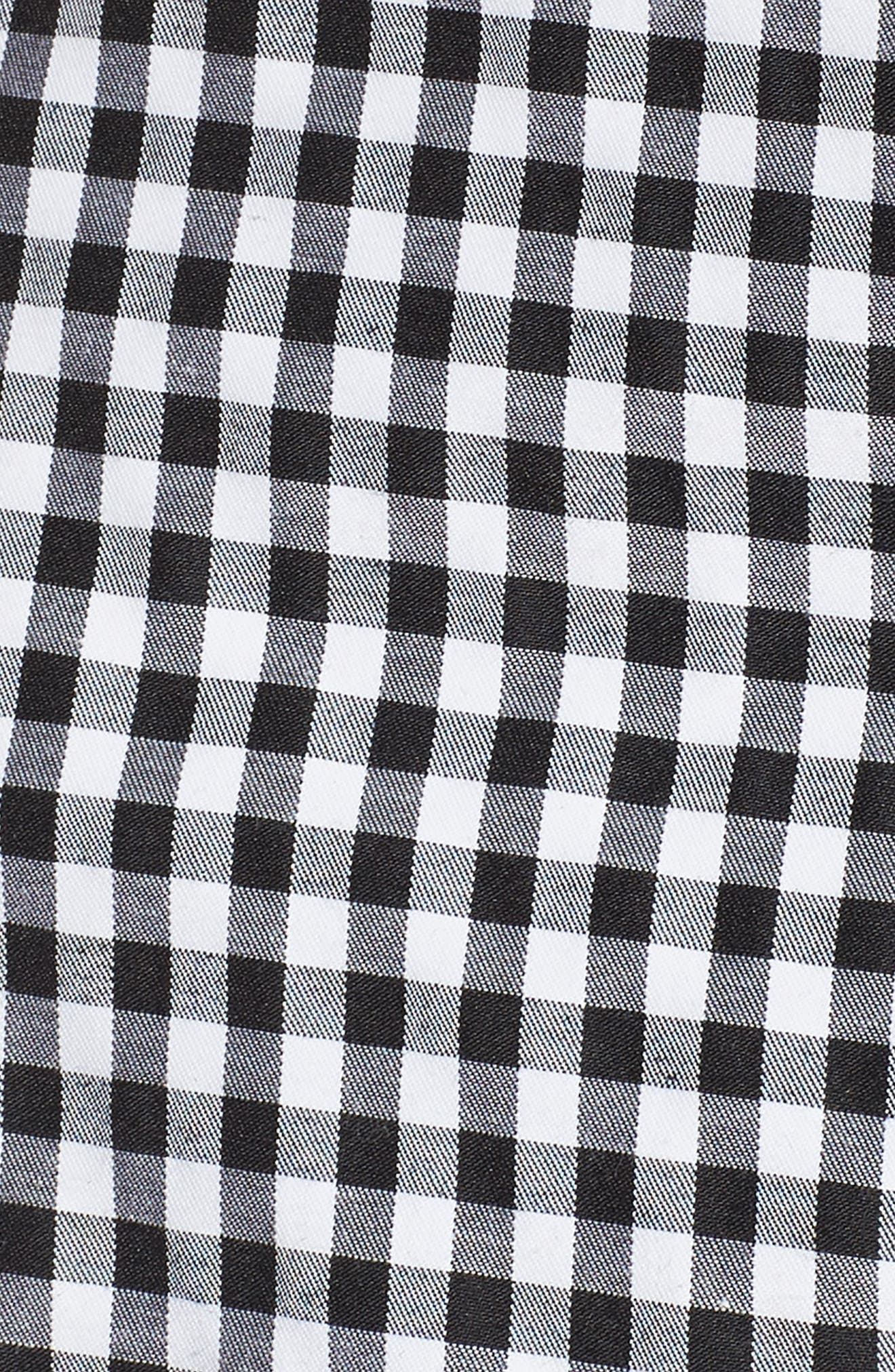 Buffalo Check Off the Shoulder Blouse,                             Alternate thumbnail 5, color,                             Black White Gingham