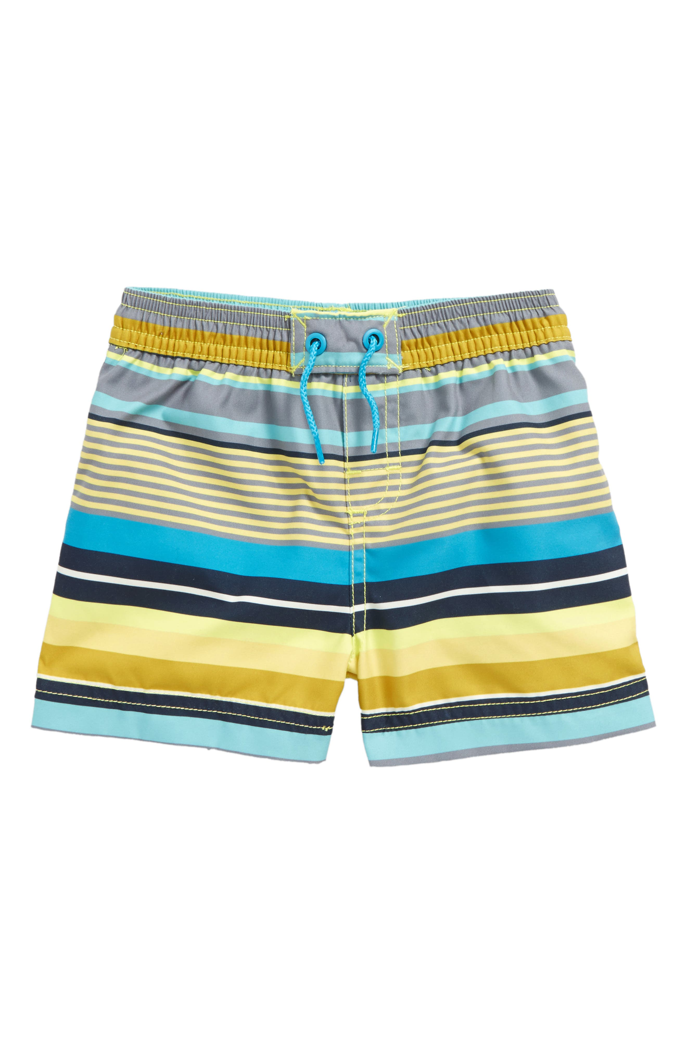 Main Image - Tea Collection Dawn Patrol Swim Trunks (Baby Boys)