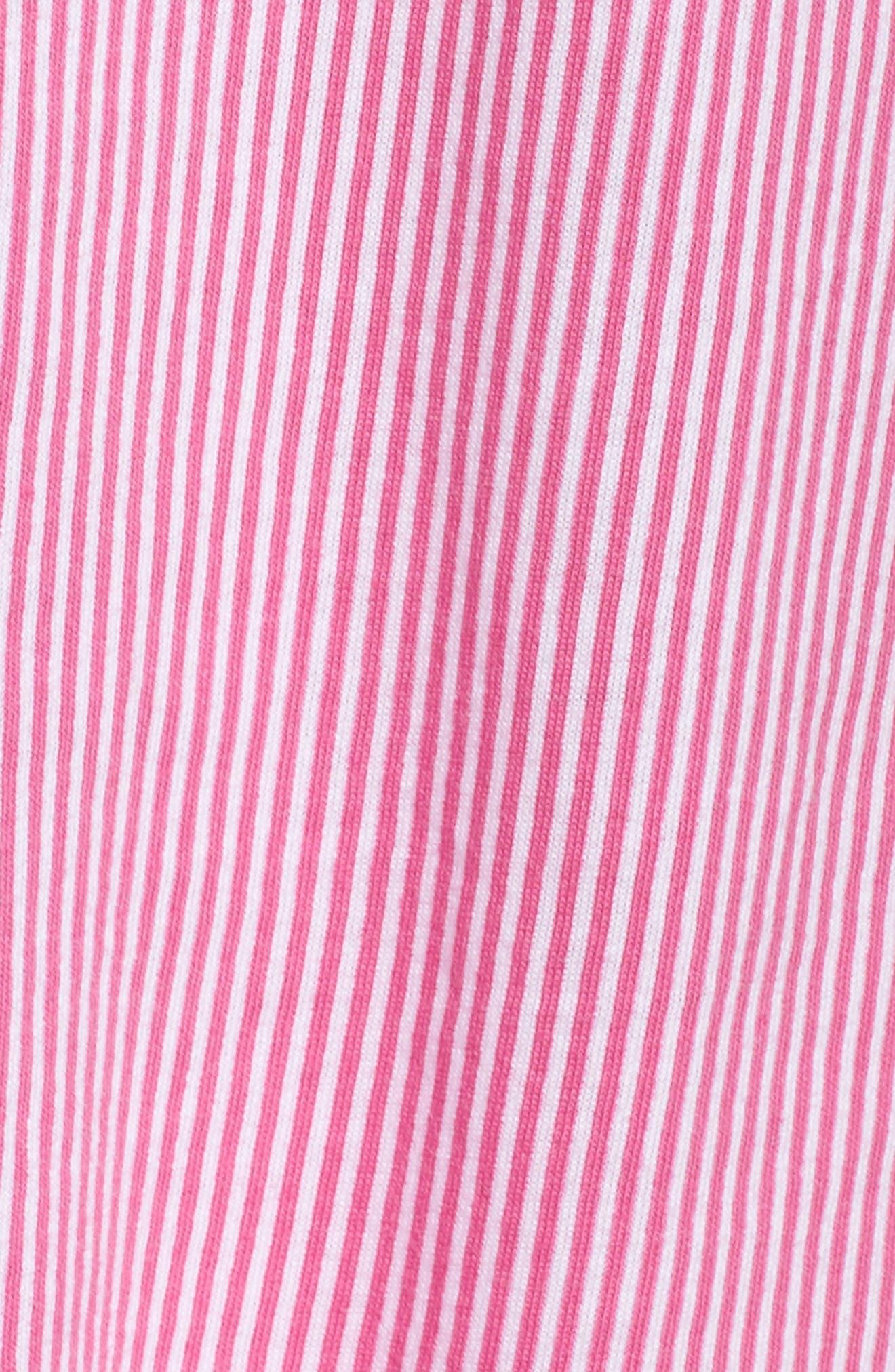 Crop Pajamas,                             Alternate thumbnail 6, color,                             Pink Stripe