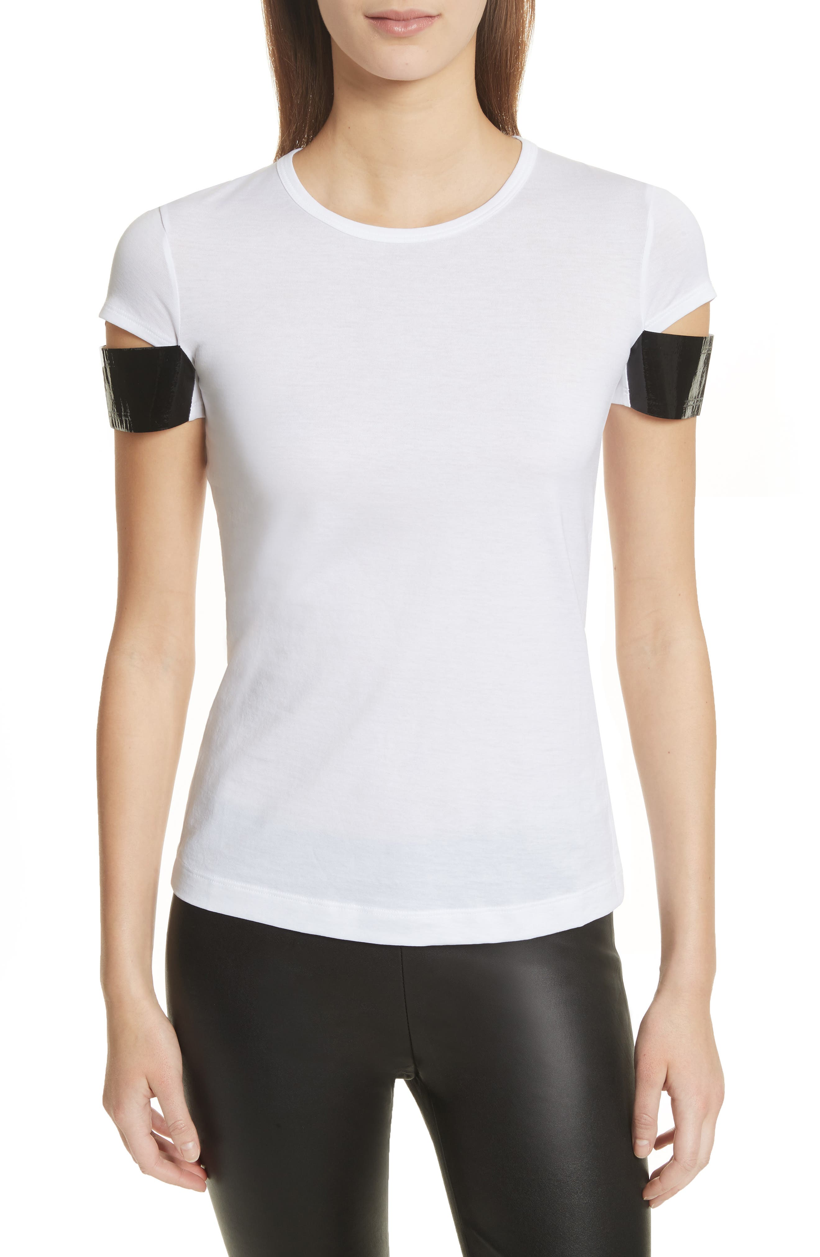 Alternate Image 1 Selected - Helmut Lang Shiny Cuff Cotton Tee