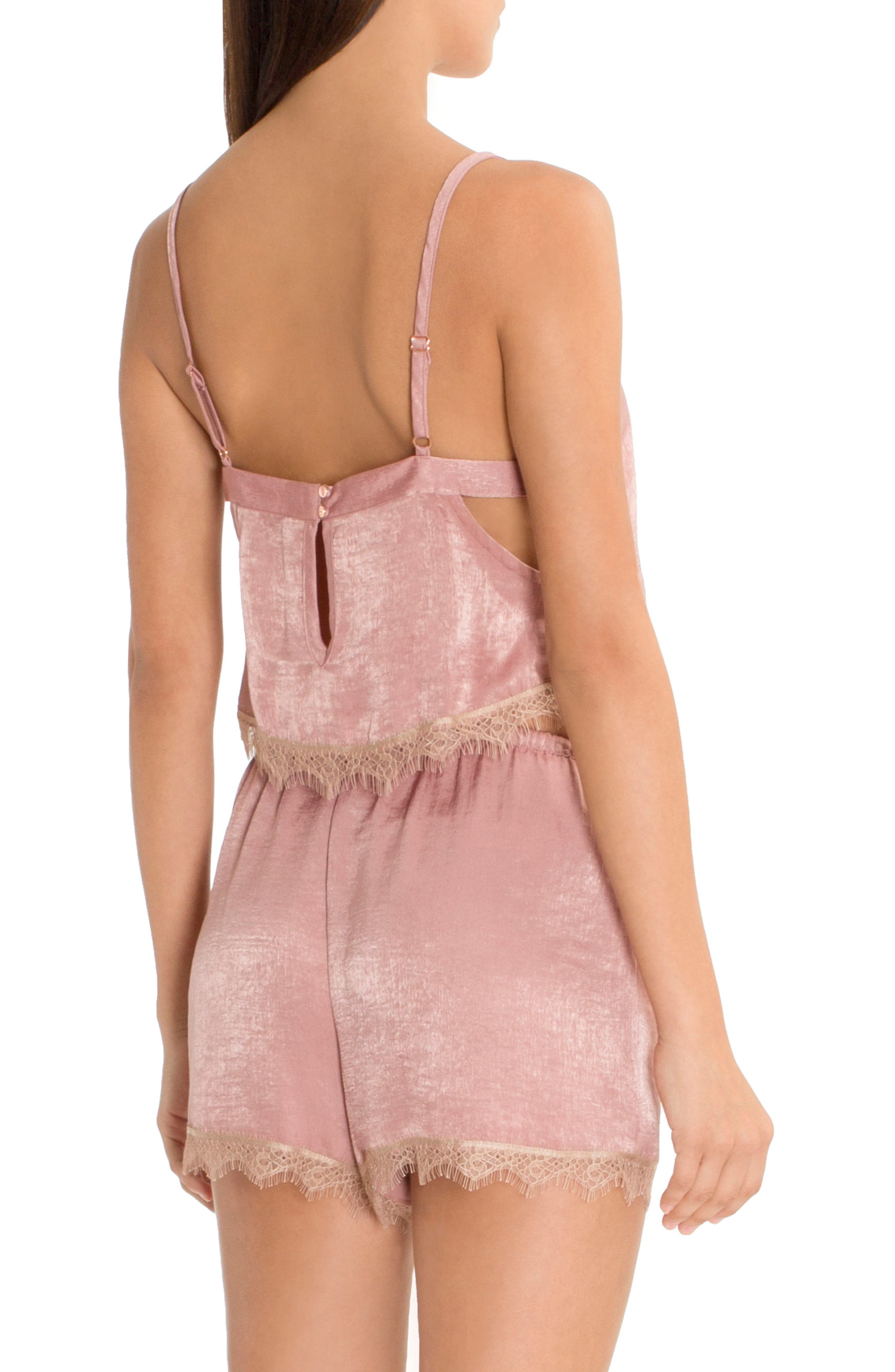 Alternate Image 2  - Midnight Bakery Crop Satin Camisole