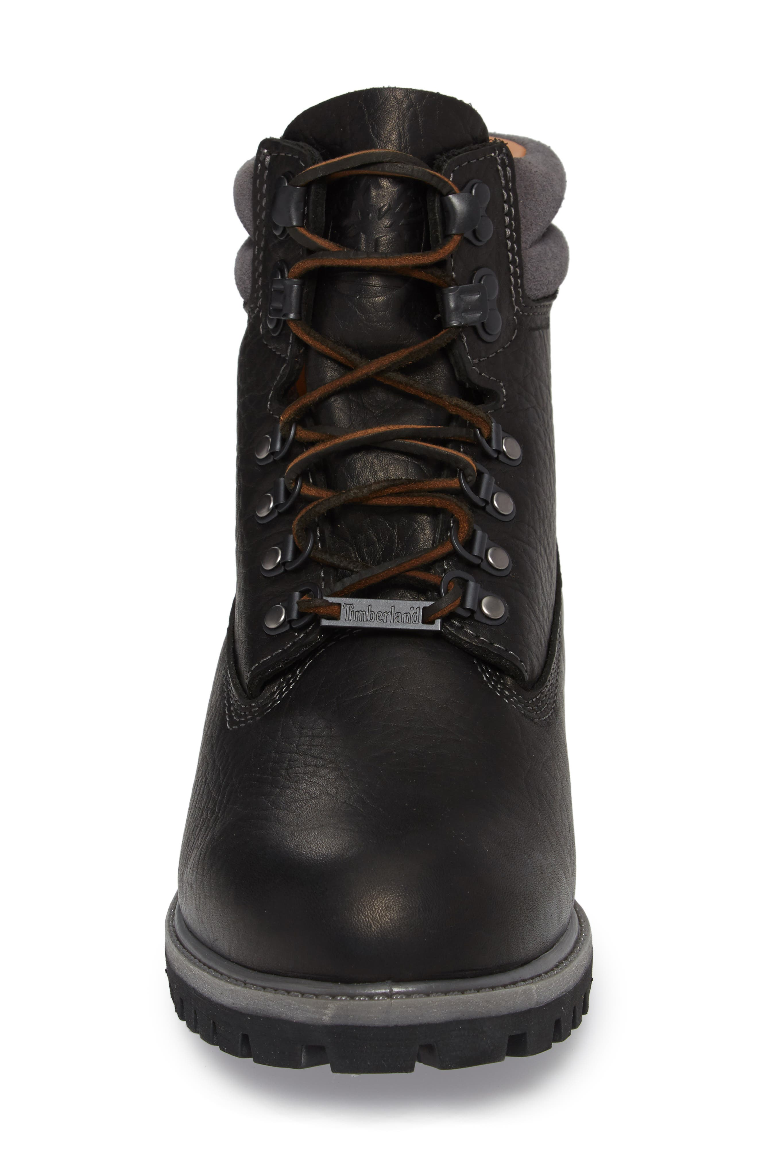 640 Below Plain Toe Boot,                             Alternate thumbnail 4, color,                             Black Highway Leather