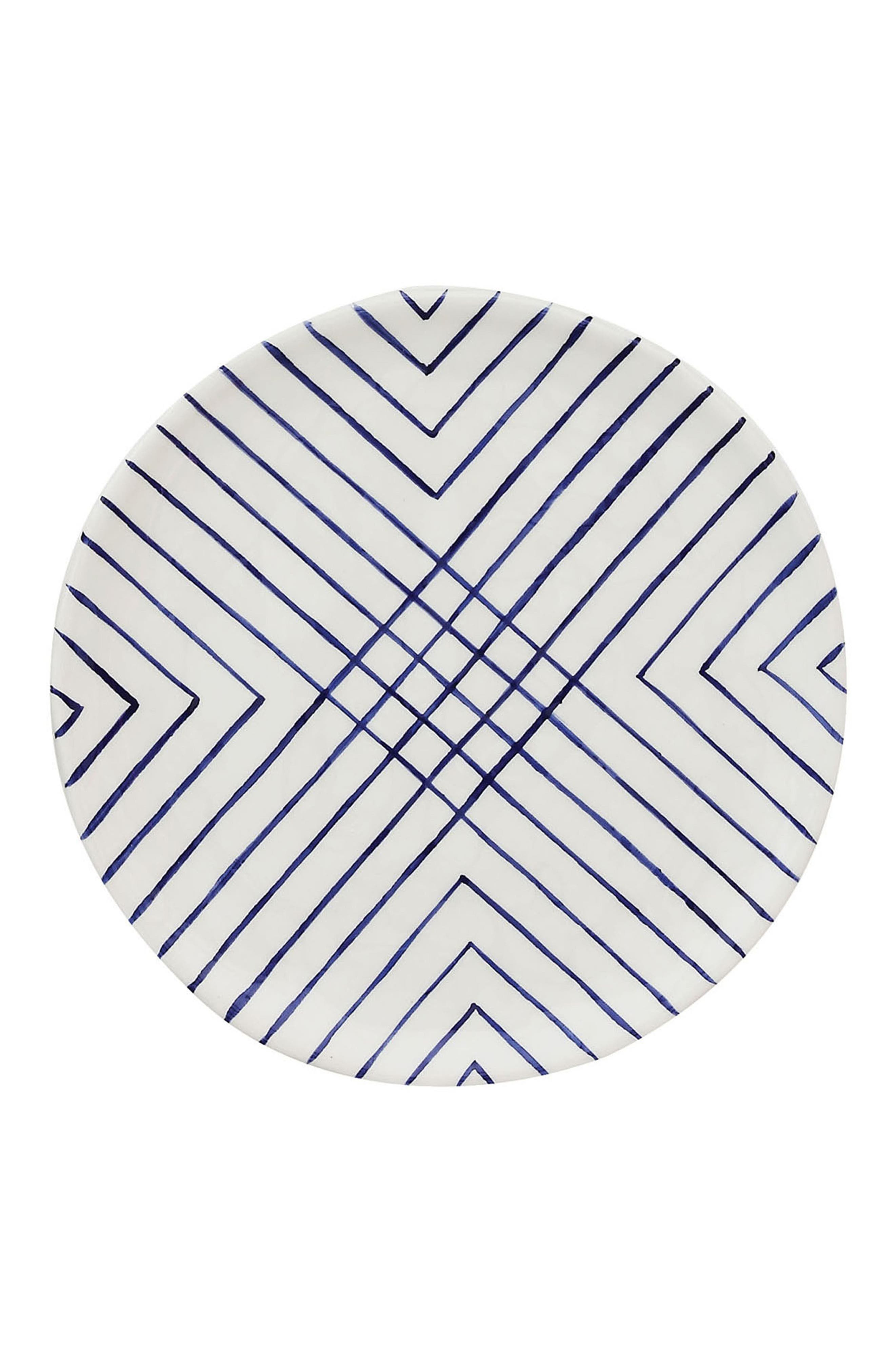 Alternate Image 1 Selected - Creative Co-Op Blue & White Plate