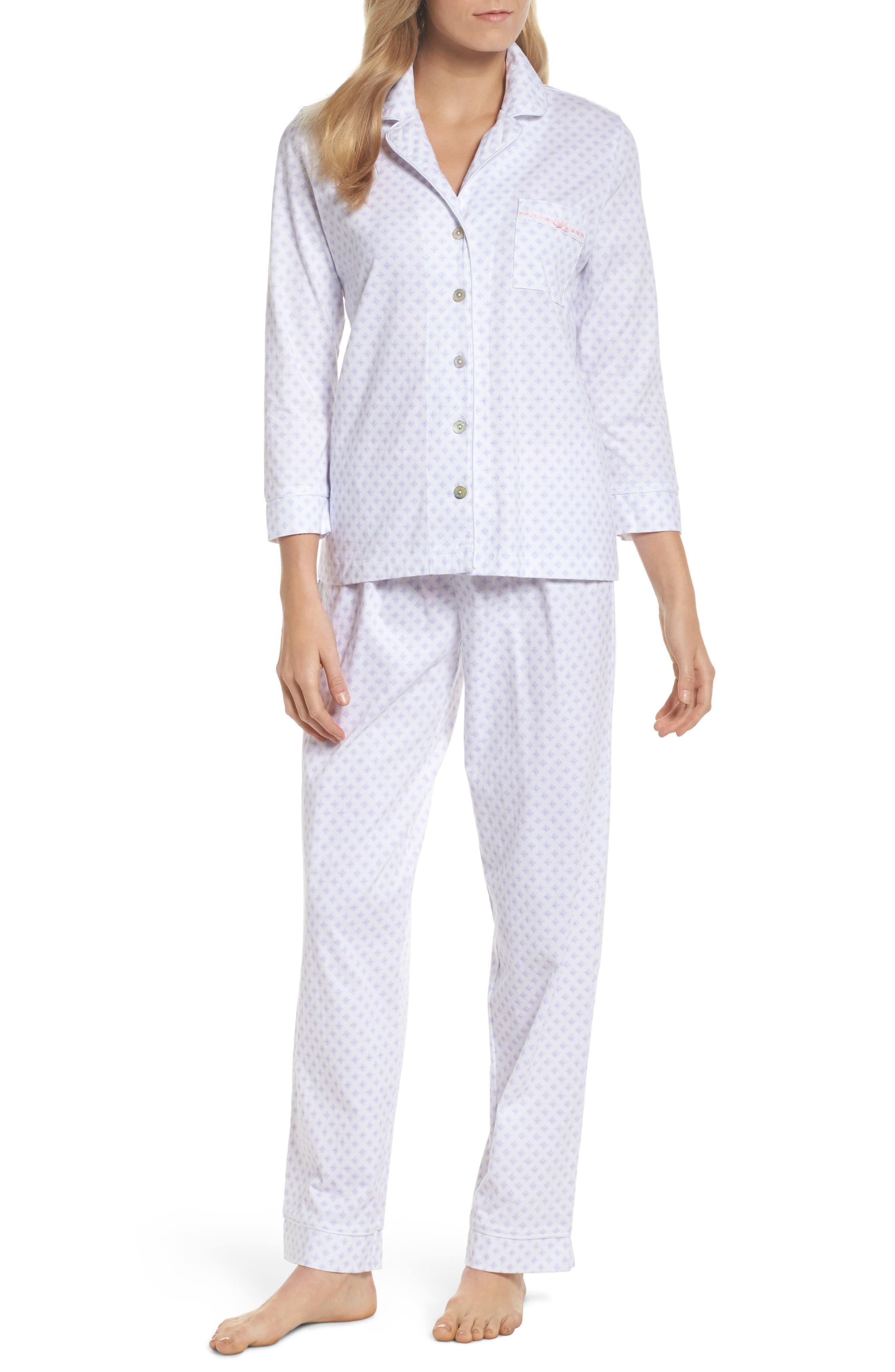 Carole Hochman Cotton Jersey Pajamas