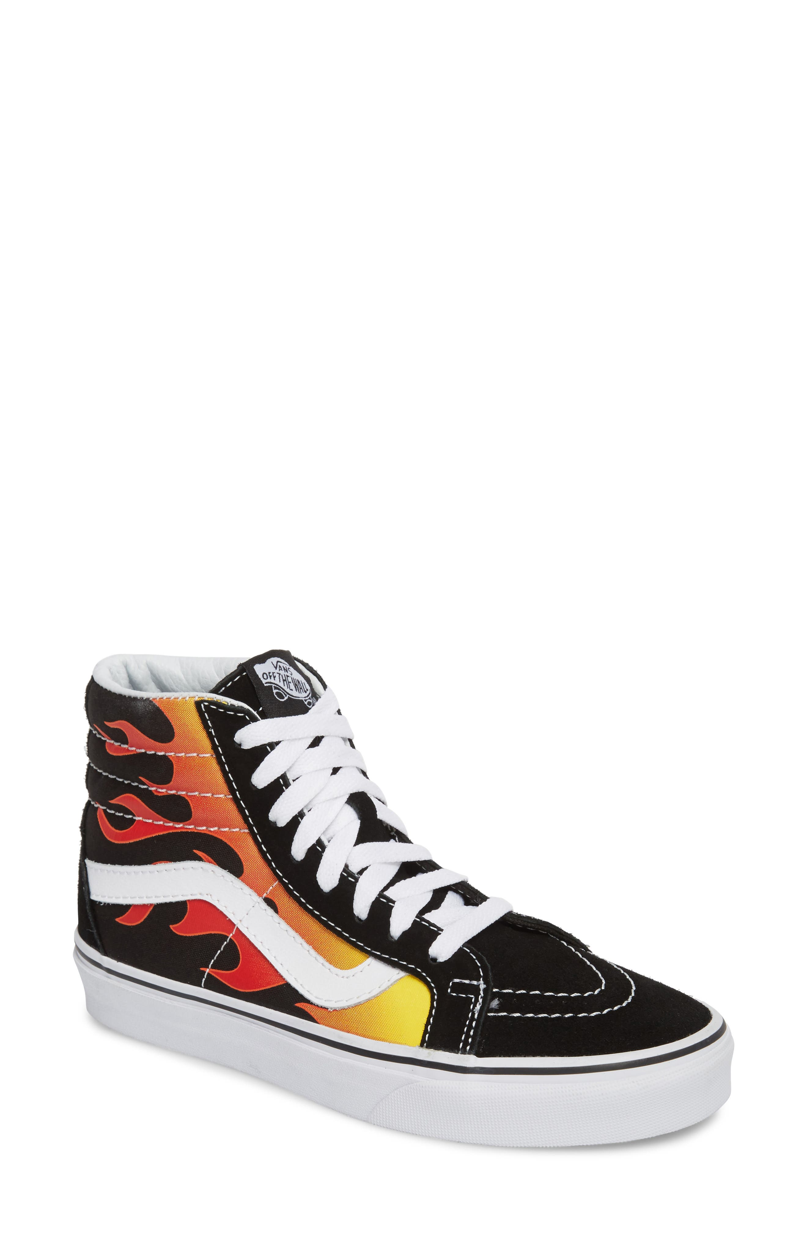 'Sk8-Hi Slim' Sneaker,                         Main,                         color, Black/ Black/ True White