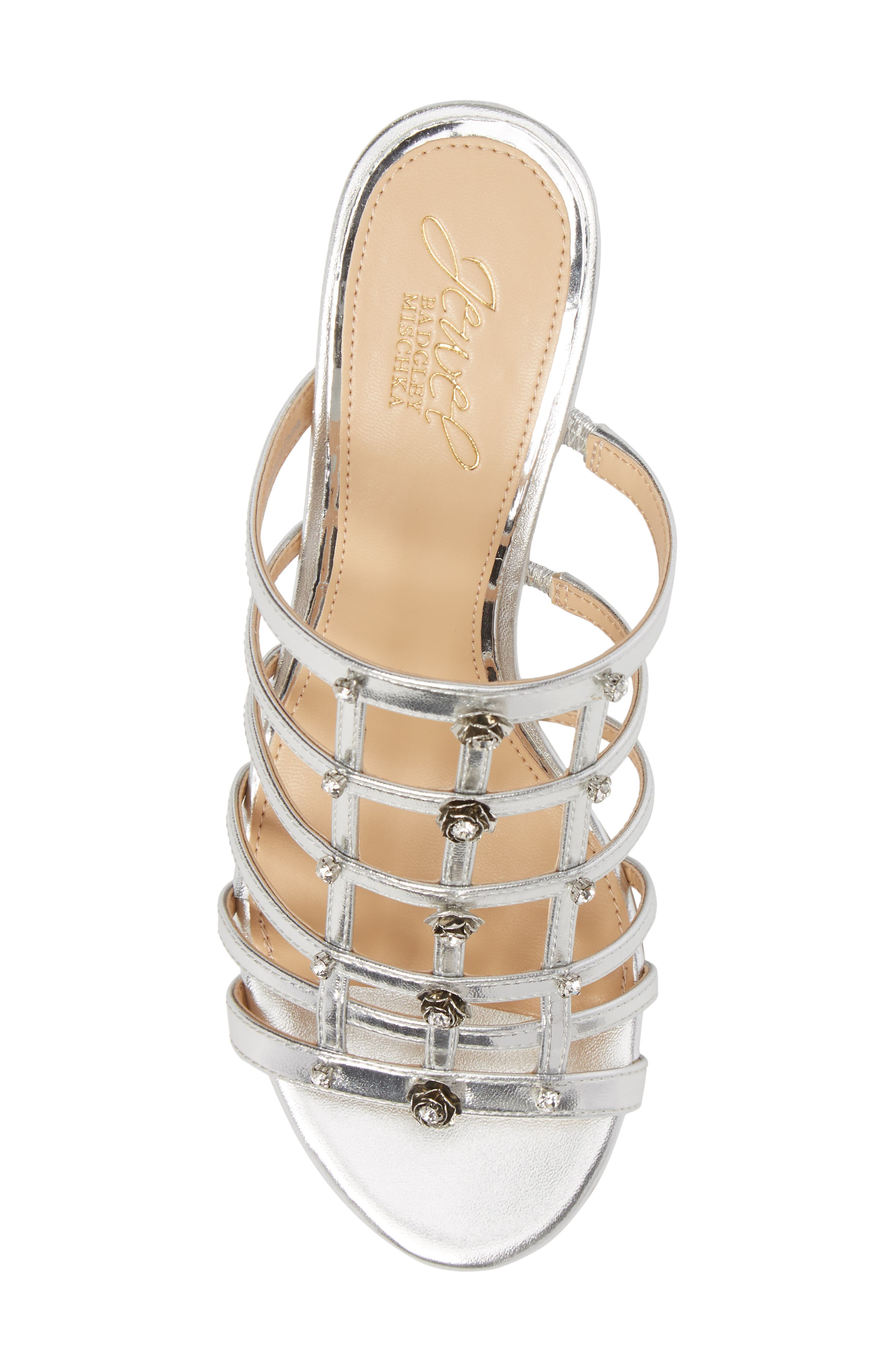 Alternate Image 5  - Jewel Badgley Mischka Thorne Crystal Rose Embellished Slide Sandal (Women)