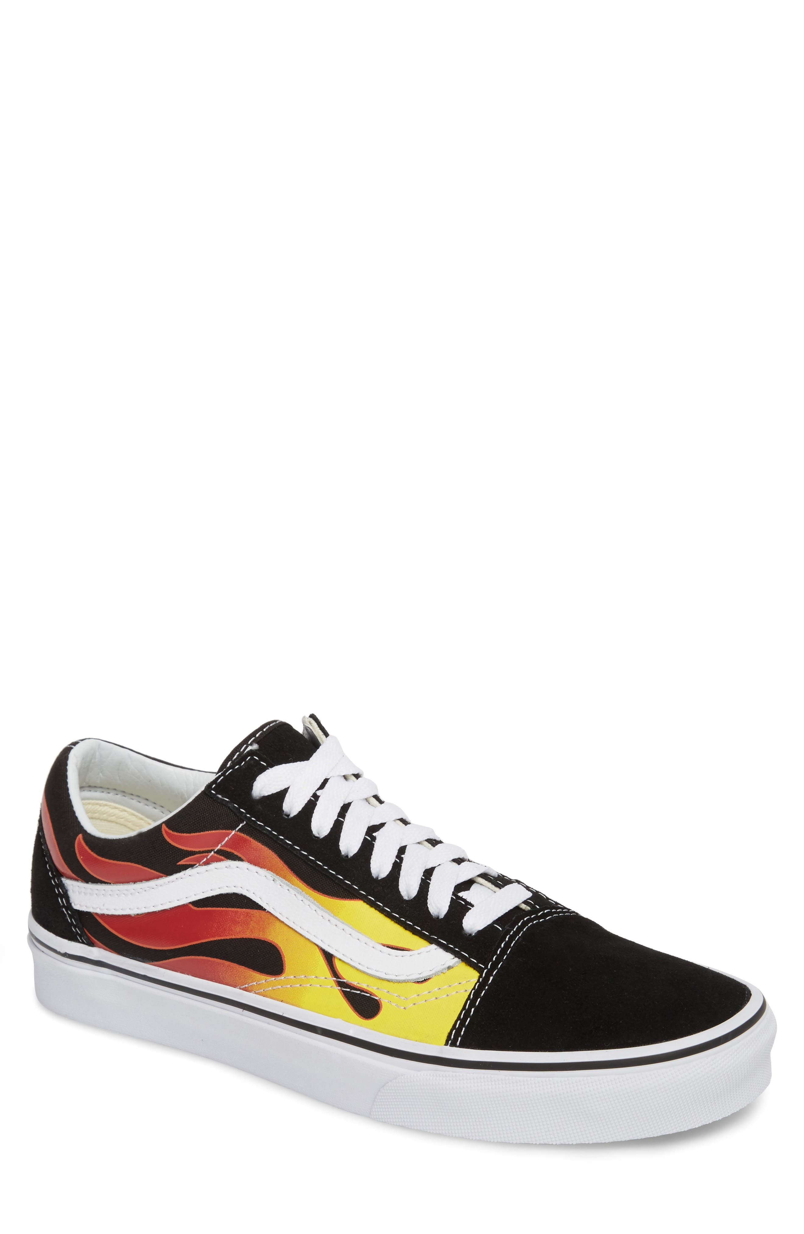 UA Old Skool Low Top Sneaker,                         Main,                         color, Black/ Black/ True White