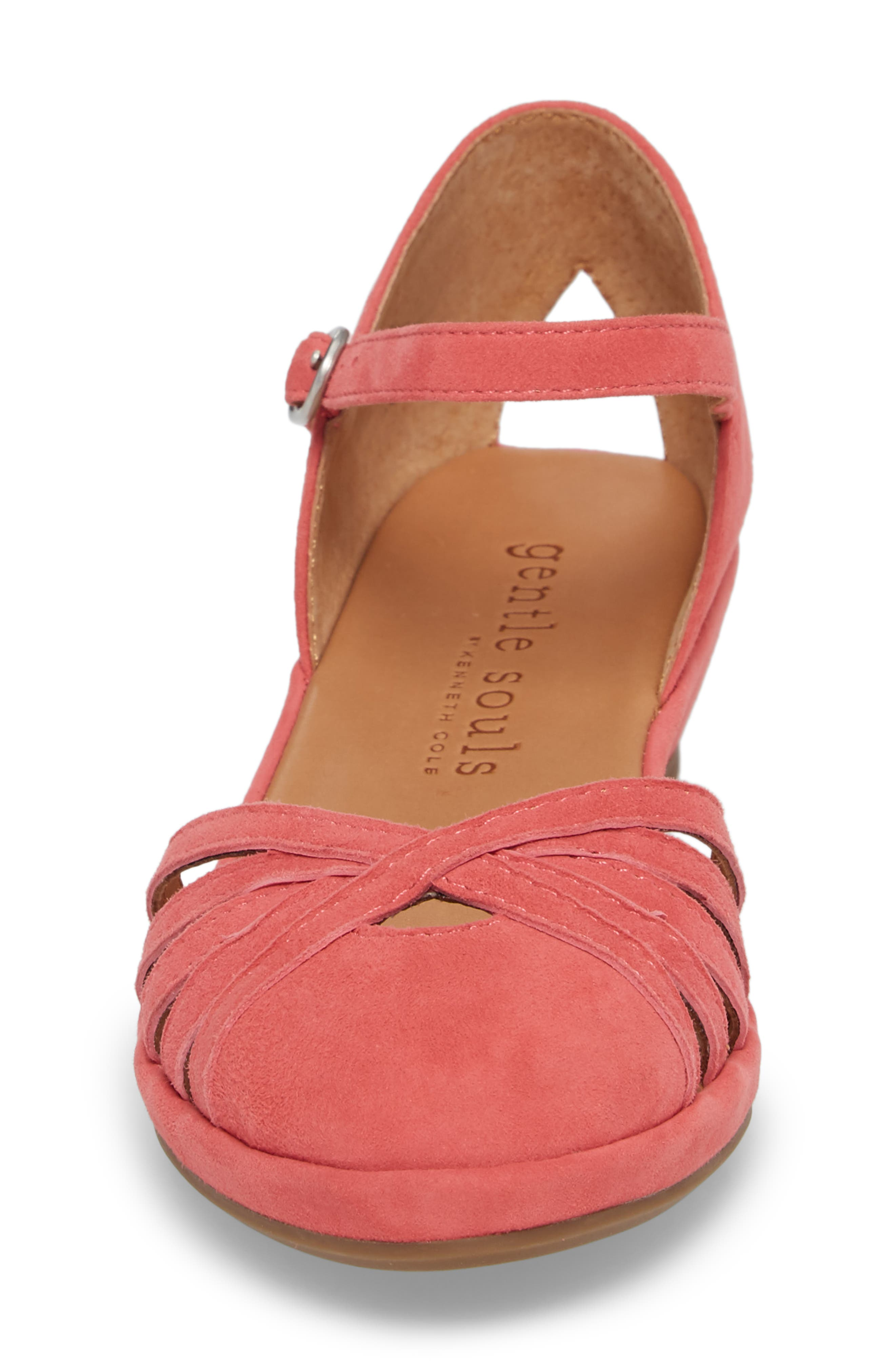 by Kenneth Cole Naira Wedge,                             Alternate thumbnail 4, color,                             Coral Suede