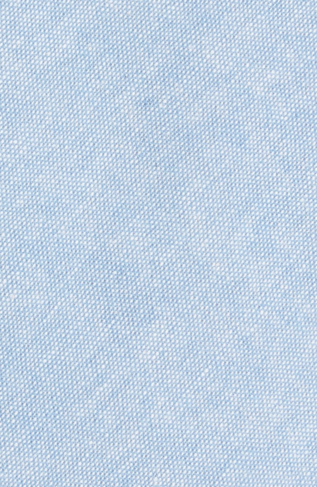 Laguna Solid Cotton Skinny Tie,                             Alternate thumbnail 2, color,                             Blue