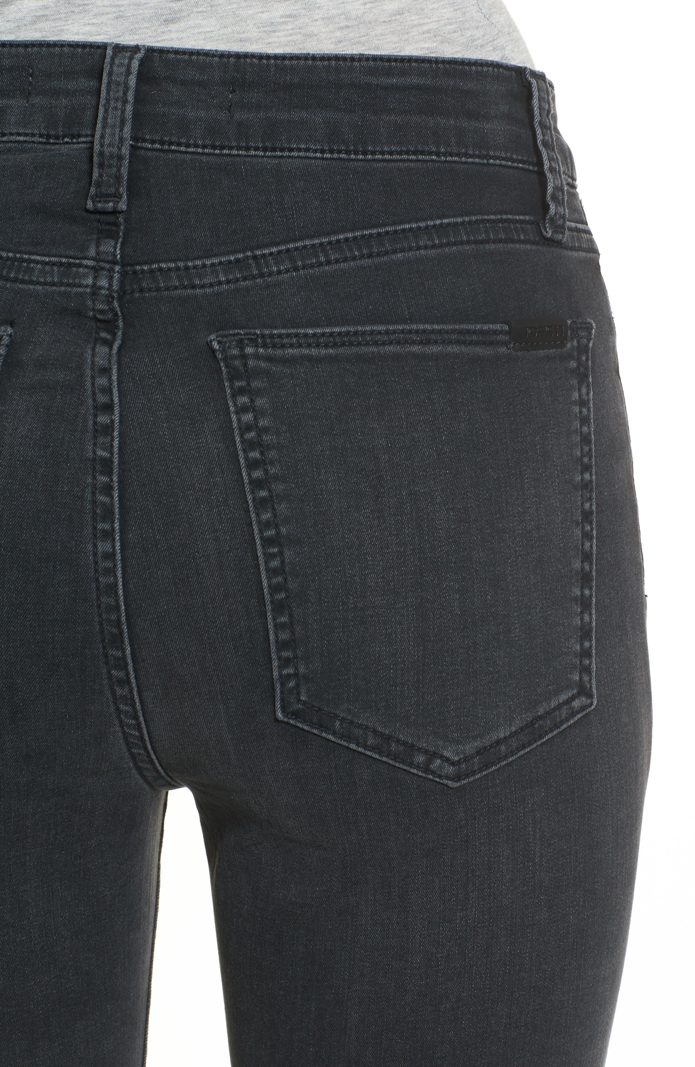 Charlie High Waist Ankle Skinny Jeans,                             Alternate thumbnail 4, color,                             Sonata
