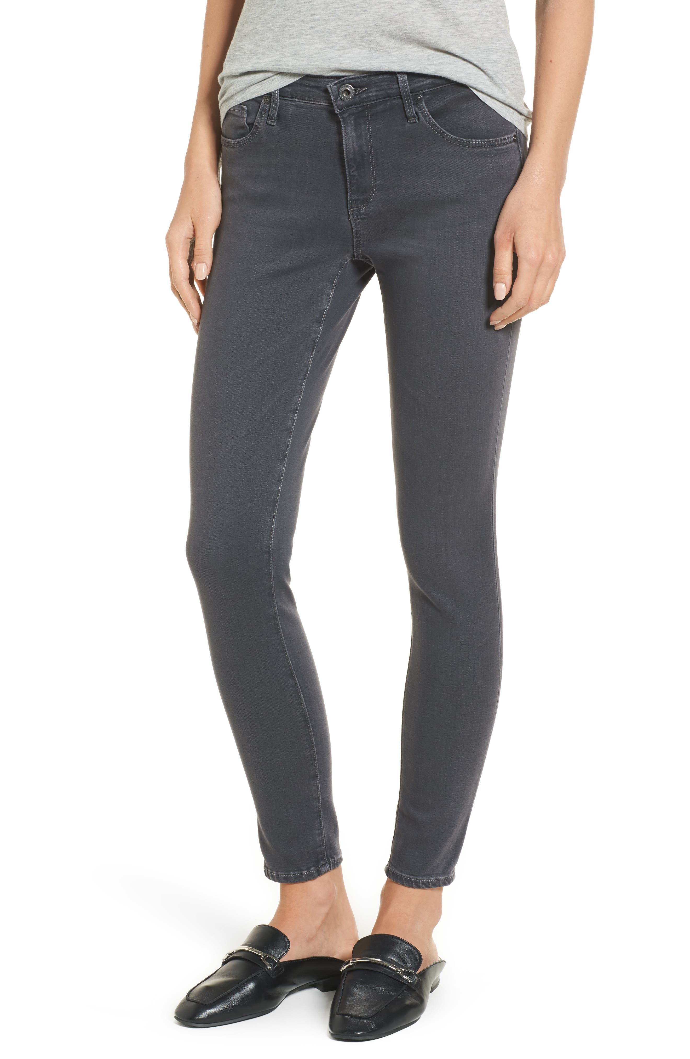 Ankle 'The Legging' Super Skinny Jeans,                             Main thumbnail 1, color,                             Raven Plume