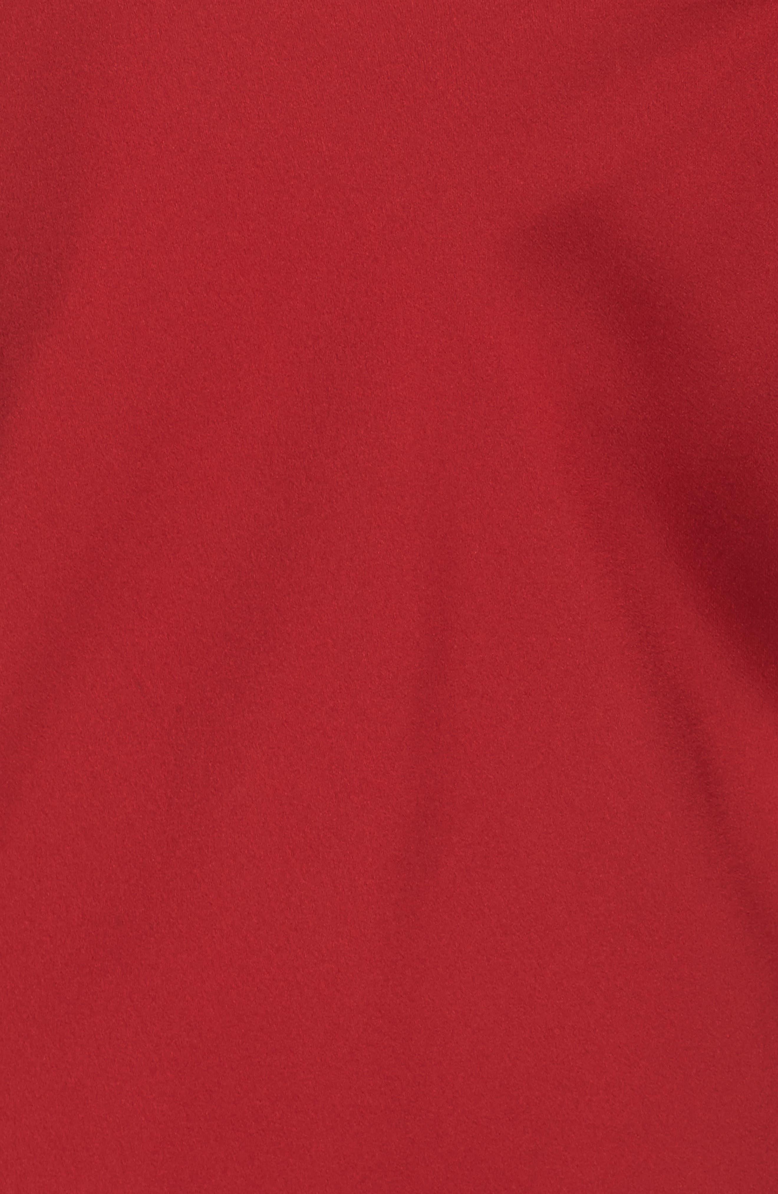 Feathers Satin Chemise,                             Alternate thumbnail 5, color,                             Crimson Red