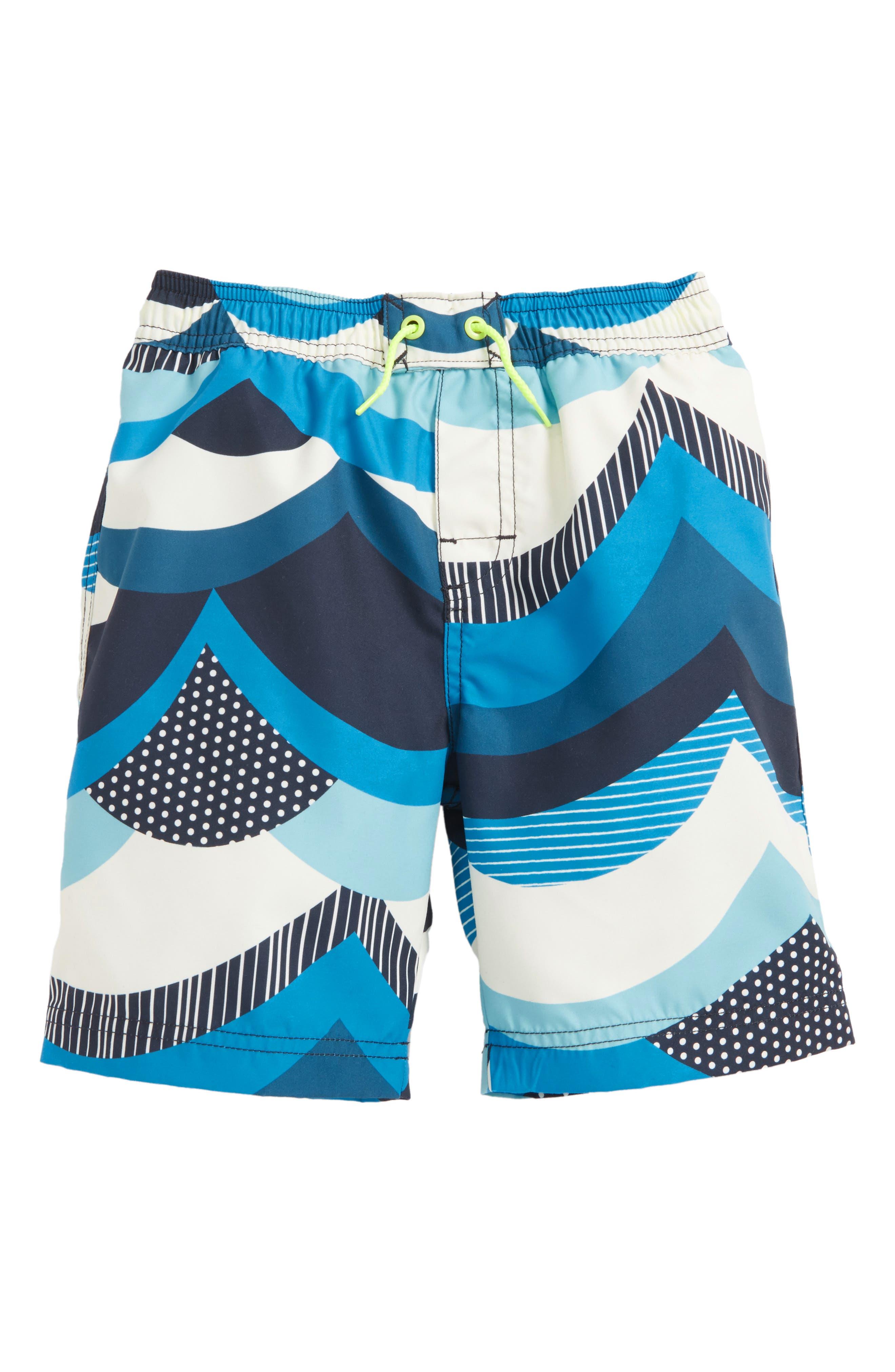 Make Waves Swim Trunks,                         Main,                         color, Indigo
