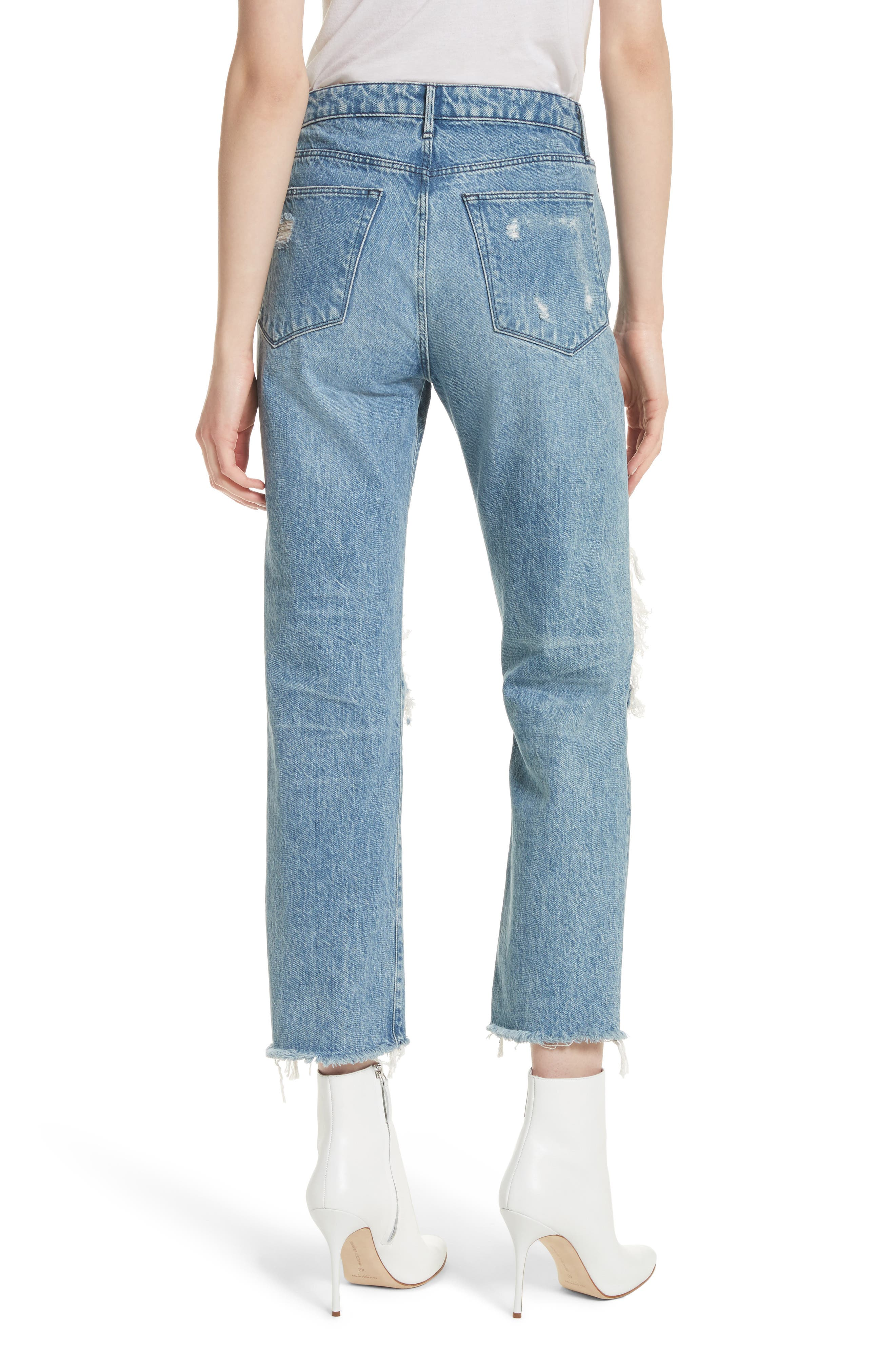 W3 Higher Ground Ripped Crop Boyfriend Jeans,                             Alternate thumbnail 2, color,                             Clutch
