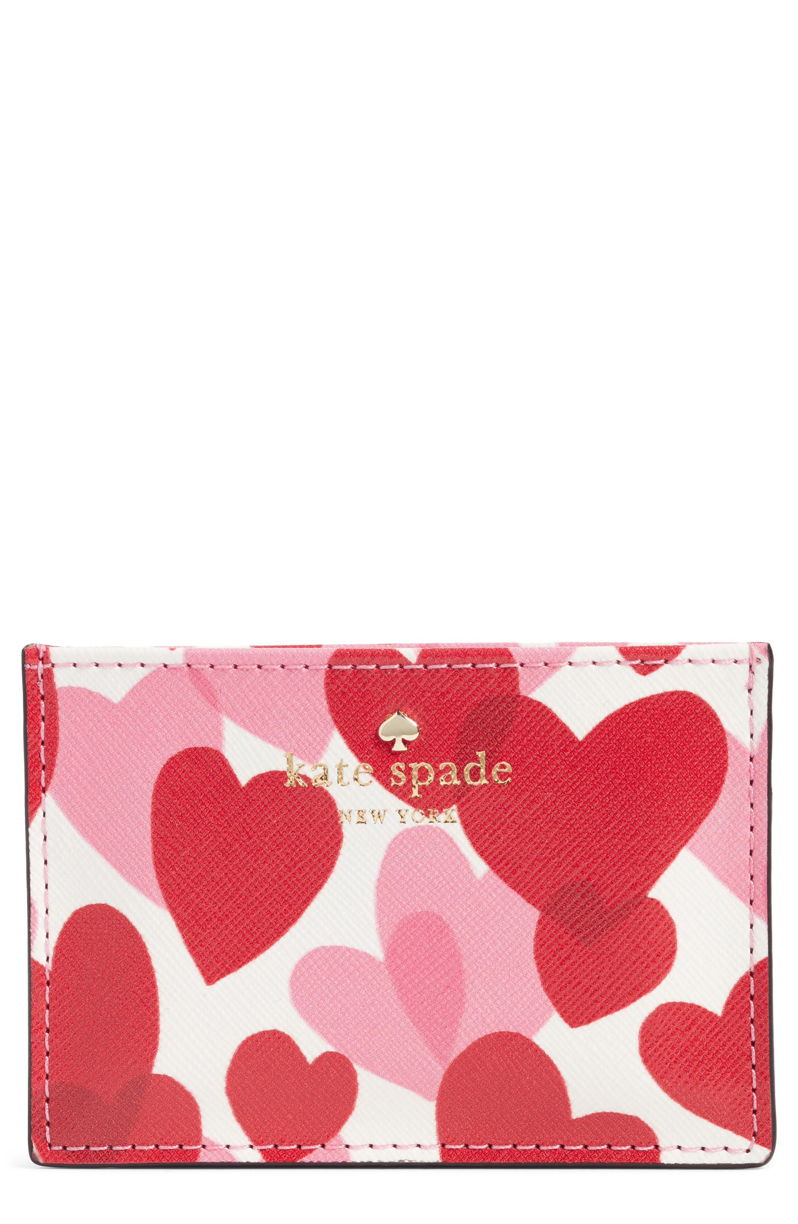 yours truly faux leather card case,                         Main,                         color, Heart Party