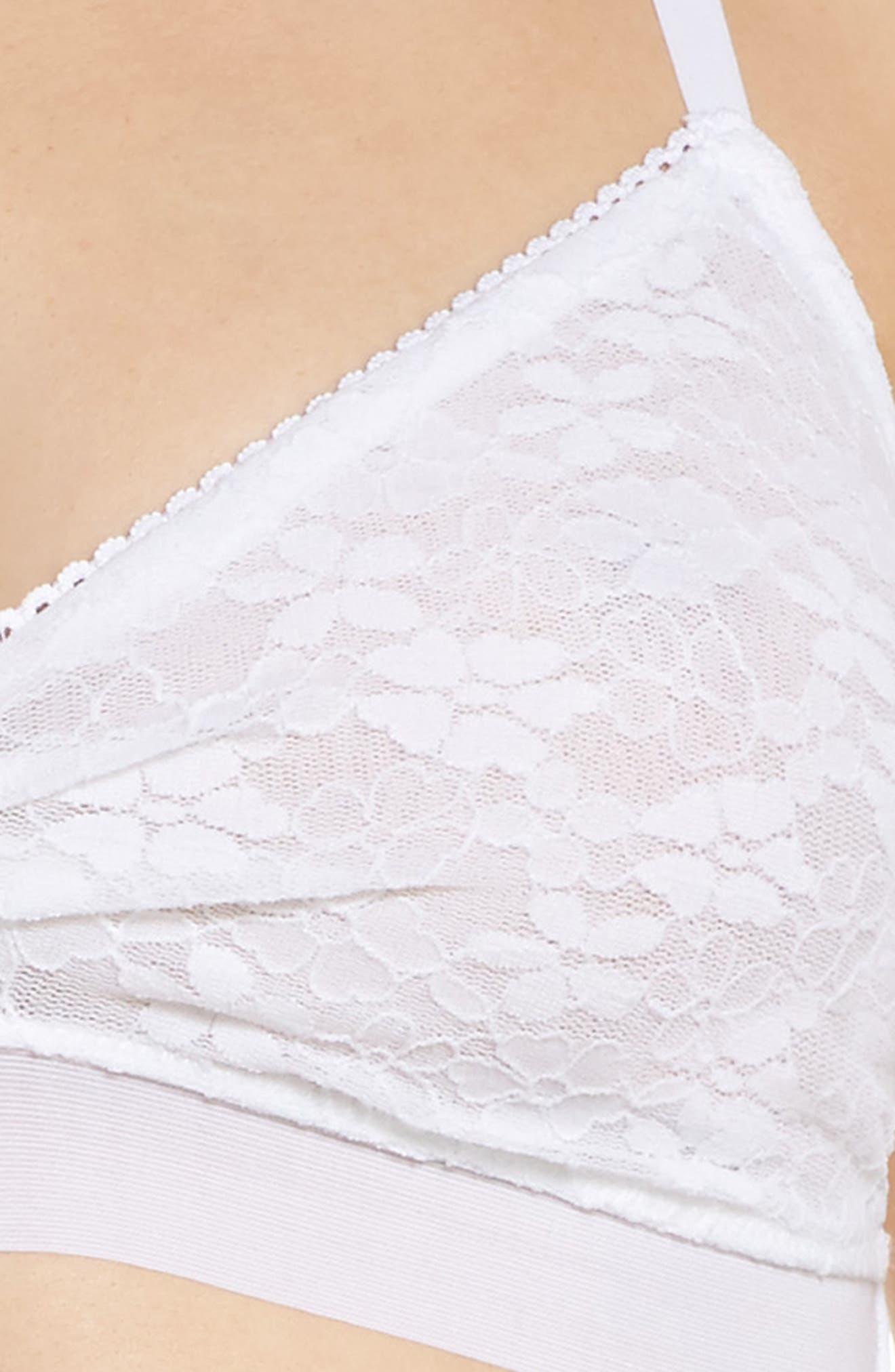 Luxury Lace Bralette,                             Alternate thumbnail 6, color,                             White