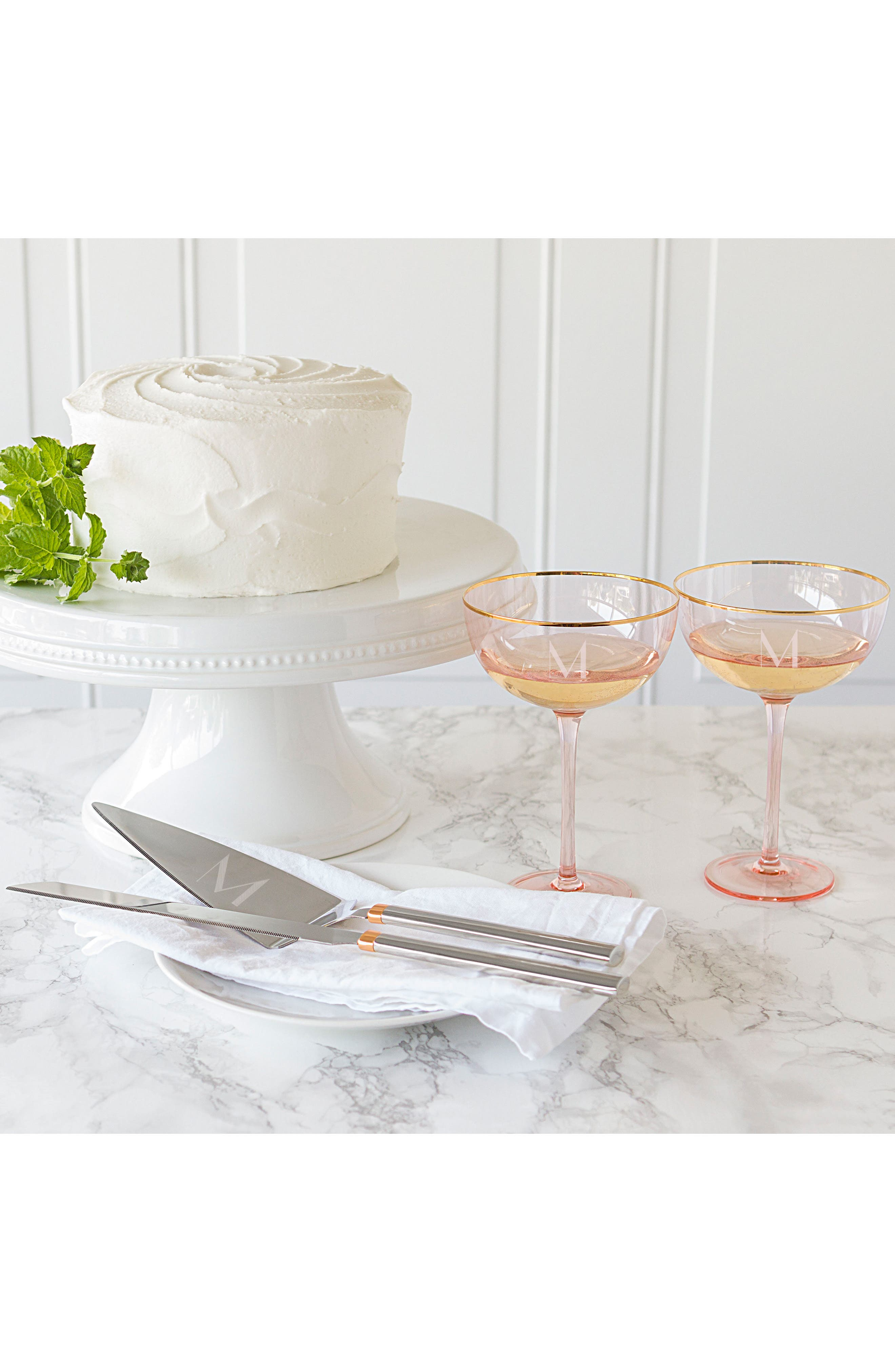 Love Champagne Coupes and Cake Serving Set,                             Alternate thumbnail 12, color,