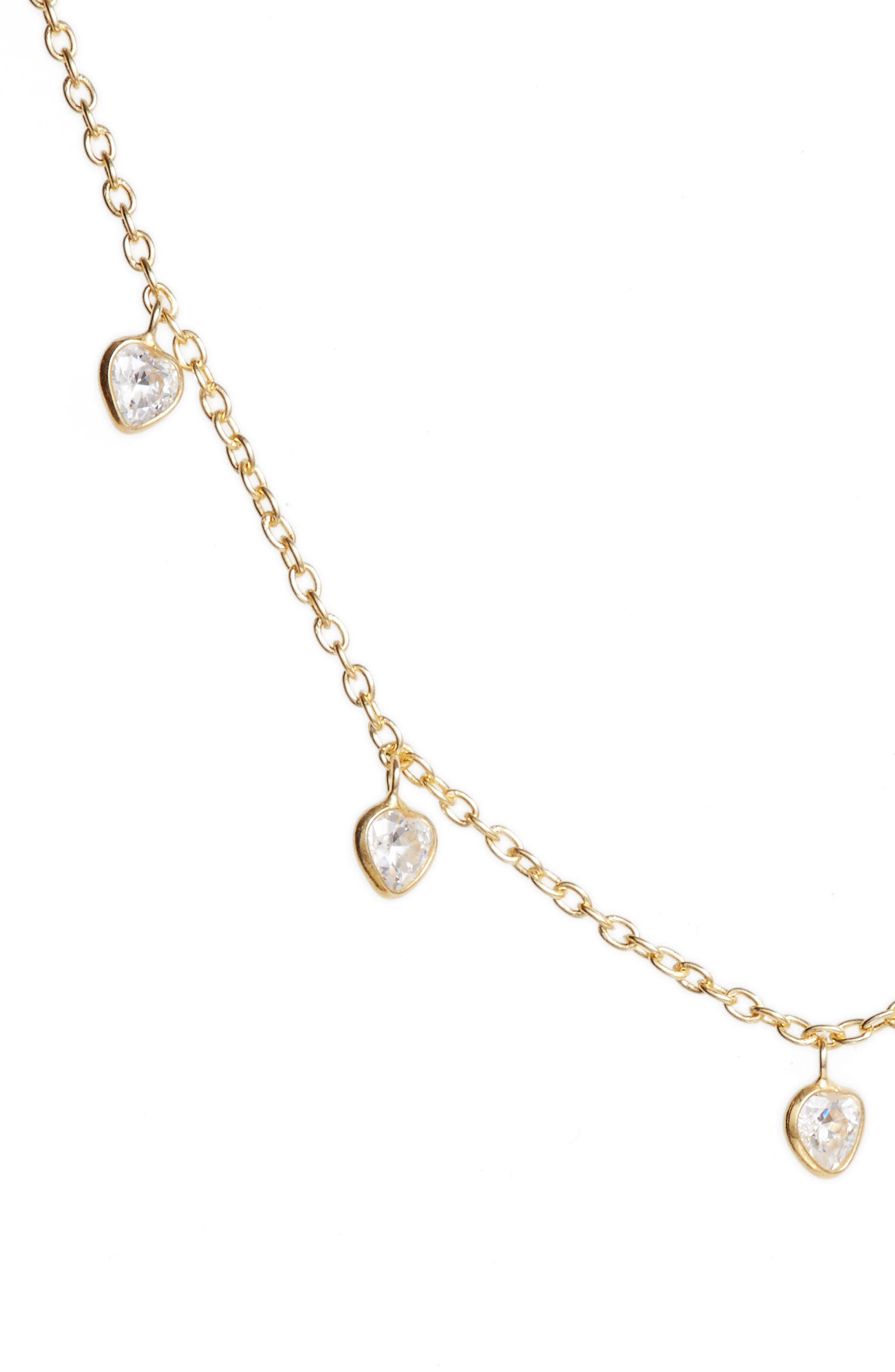 Diana Cubic Zirconia Necklace,                             Alternate thumbnail 2, color,                             Gold