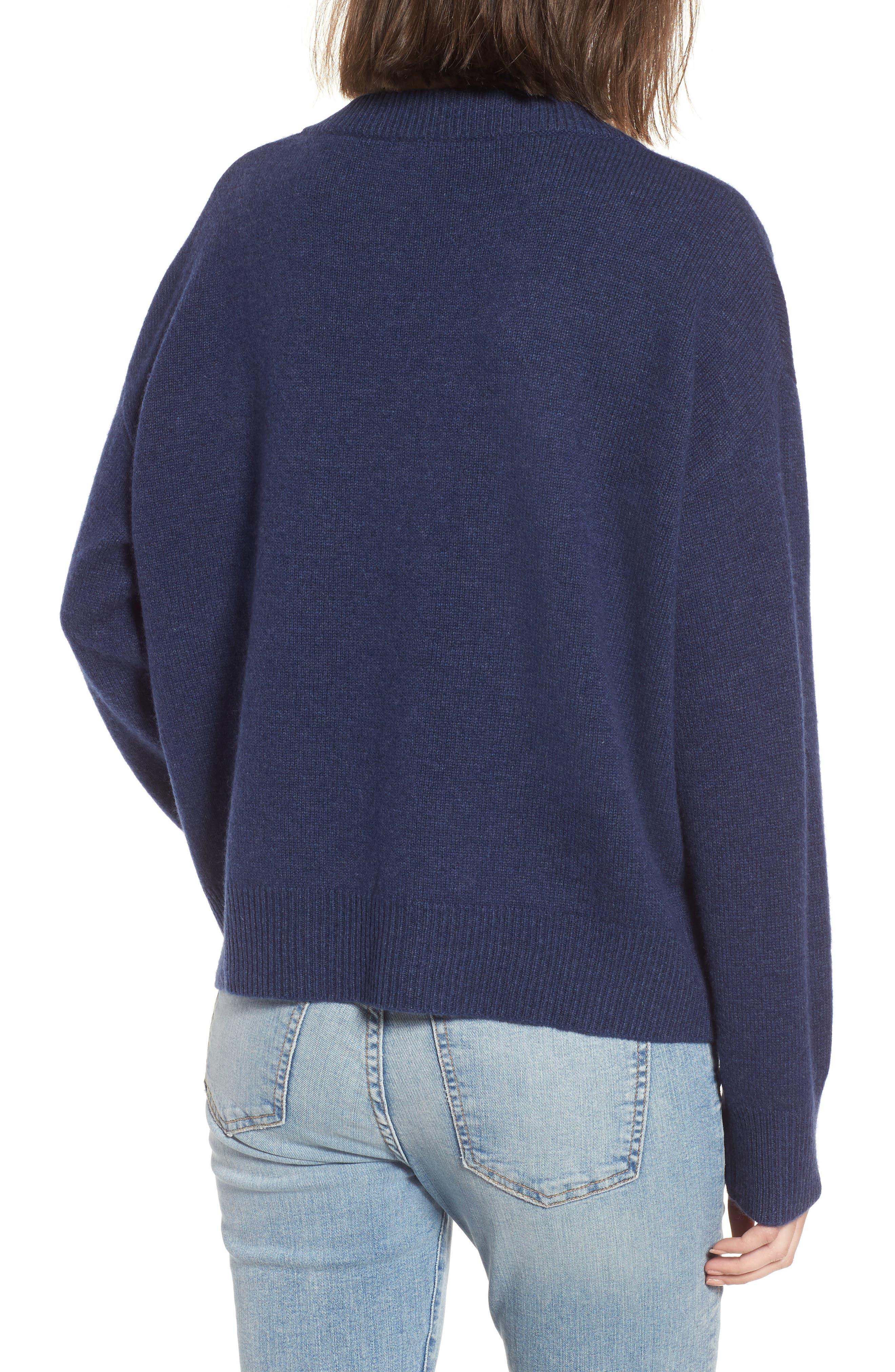 Alternate Image 2  - Rails Olivia Lace-Up Sweater
